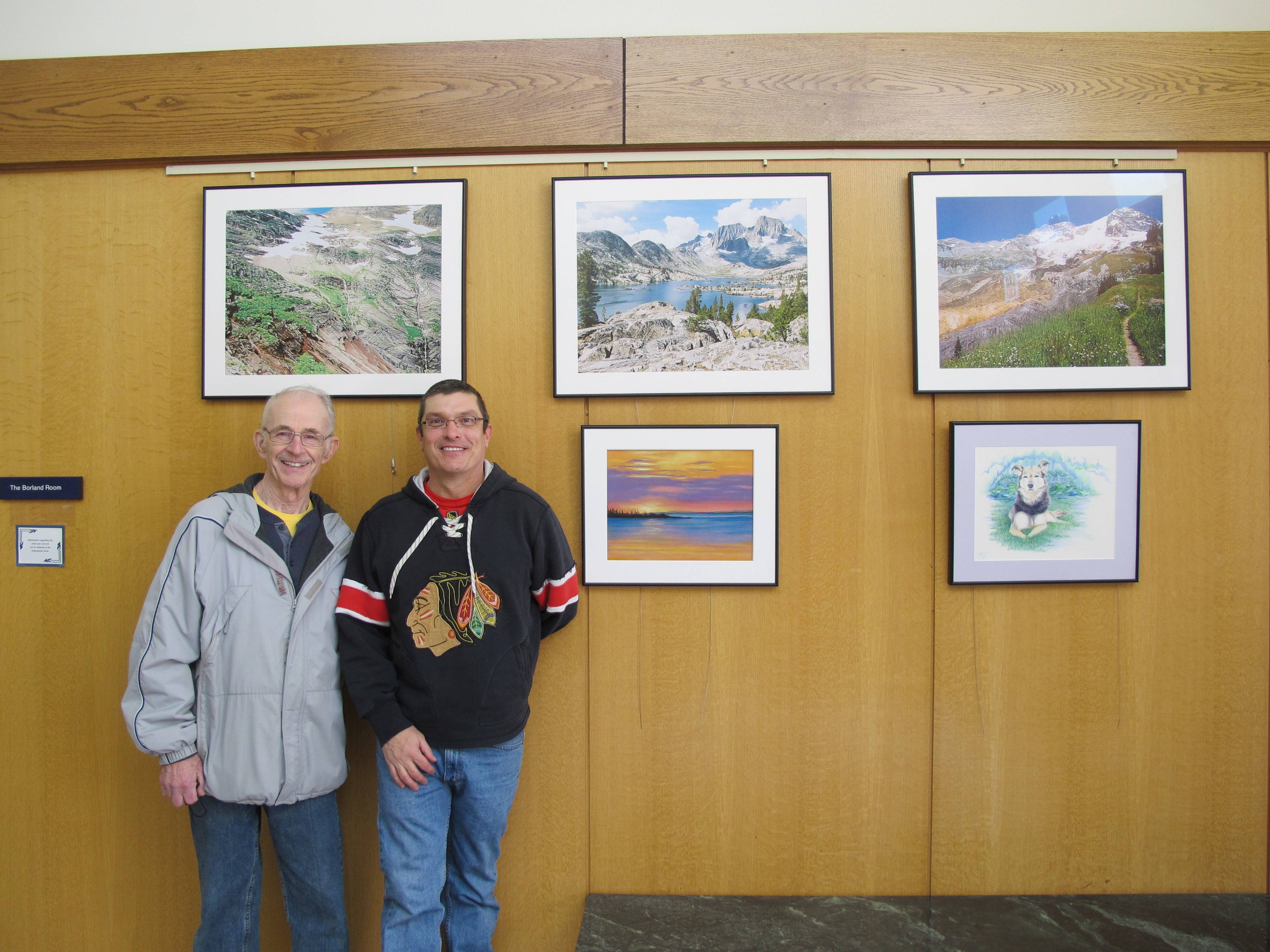 April Lobby Artists and local residents Michael Durmus and Dave Coughlin