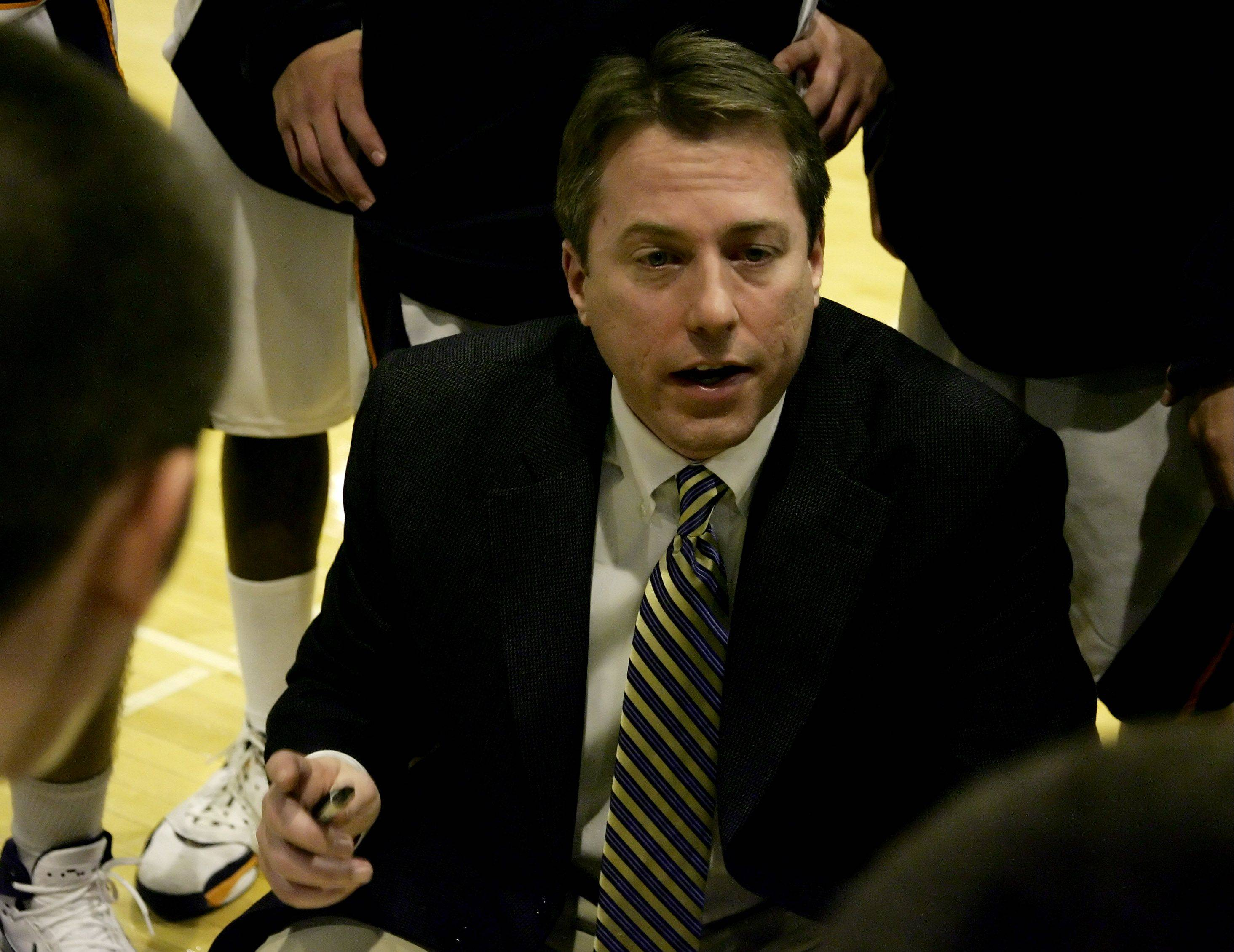 Ryan O�Connor, show here coaching in the 2007-08 season, is stepping down as Buffalo Grove�s varsity boys basketball coach after a 13-year run.