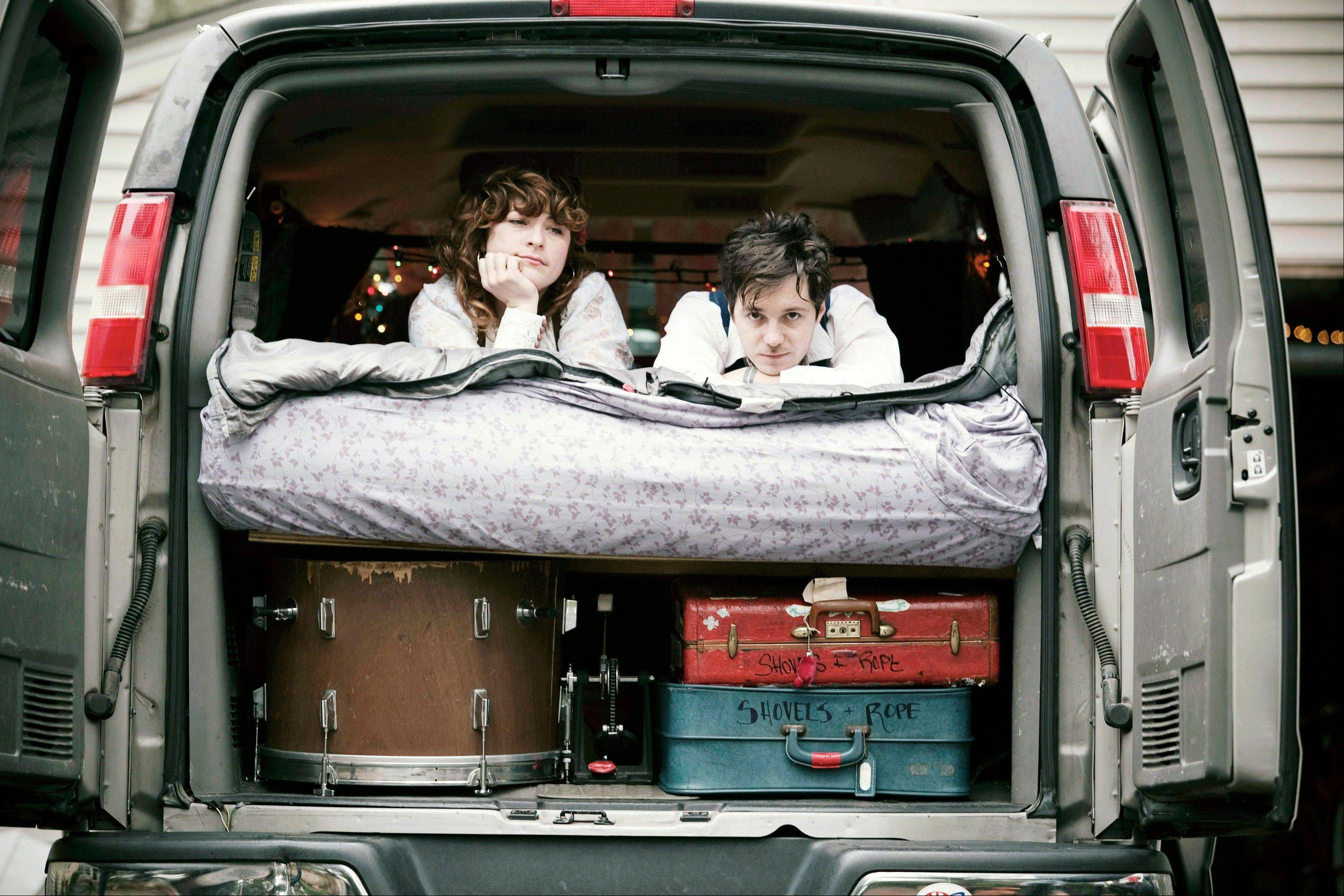Michael Trent, right, and Cary Ann Hearst from the band Shovels & Rope.