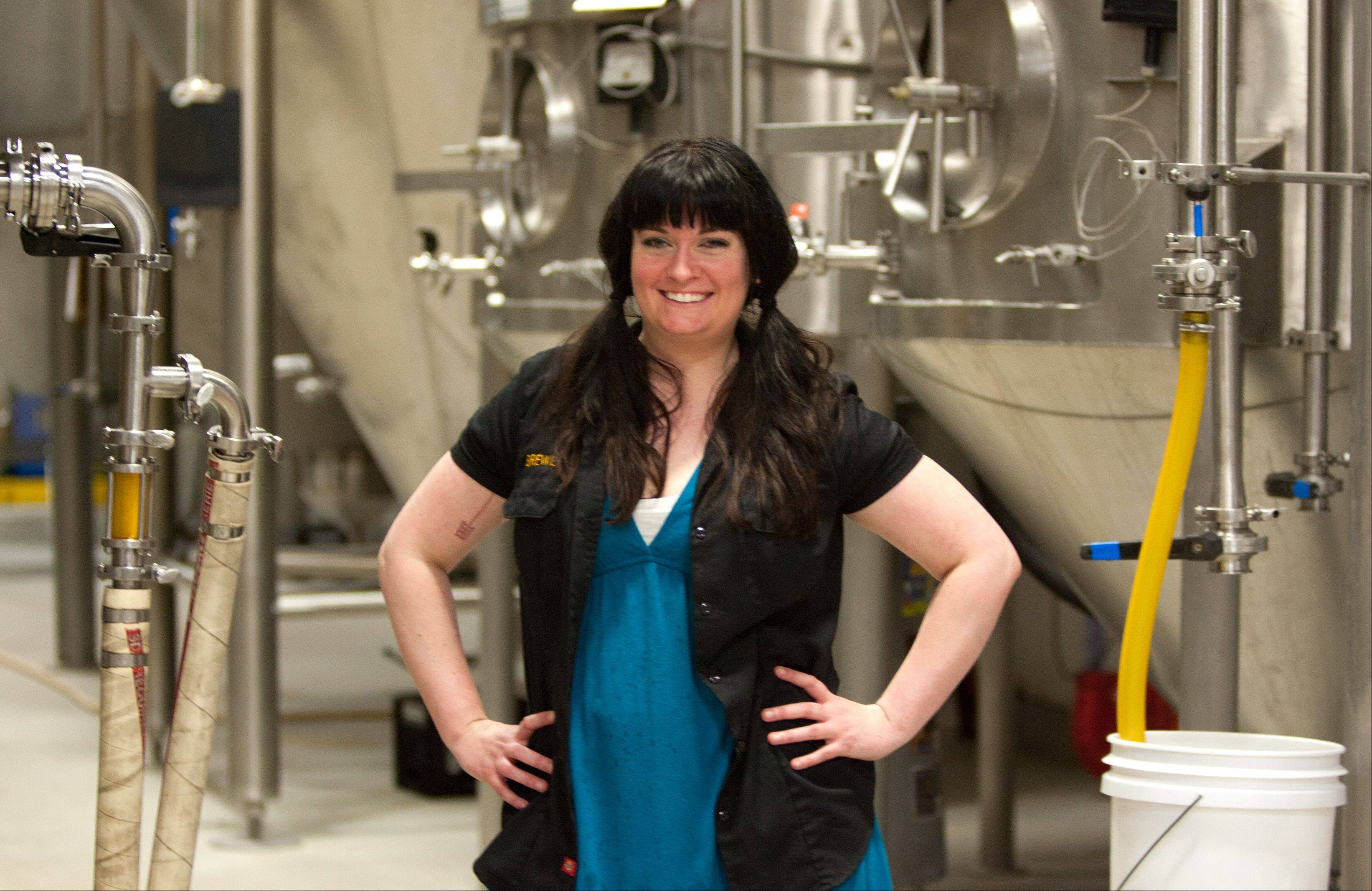 Ashleigh Arnold is the only female brewer at Two Brothers Brewery in Warrenville, but one of a growing number of female professional brewers.