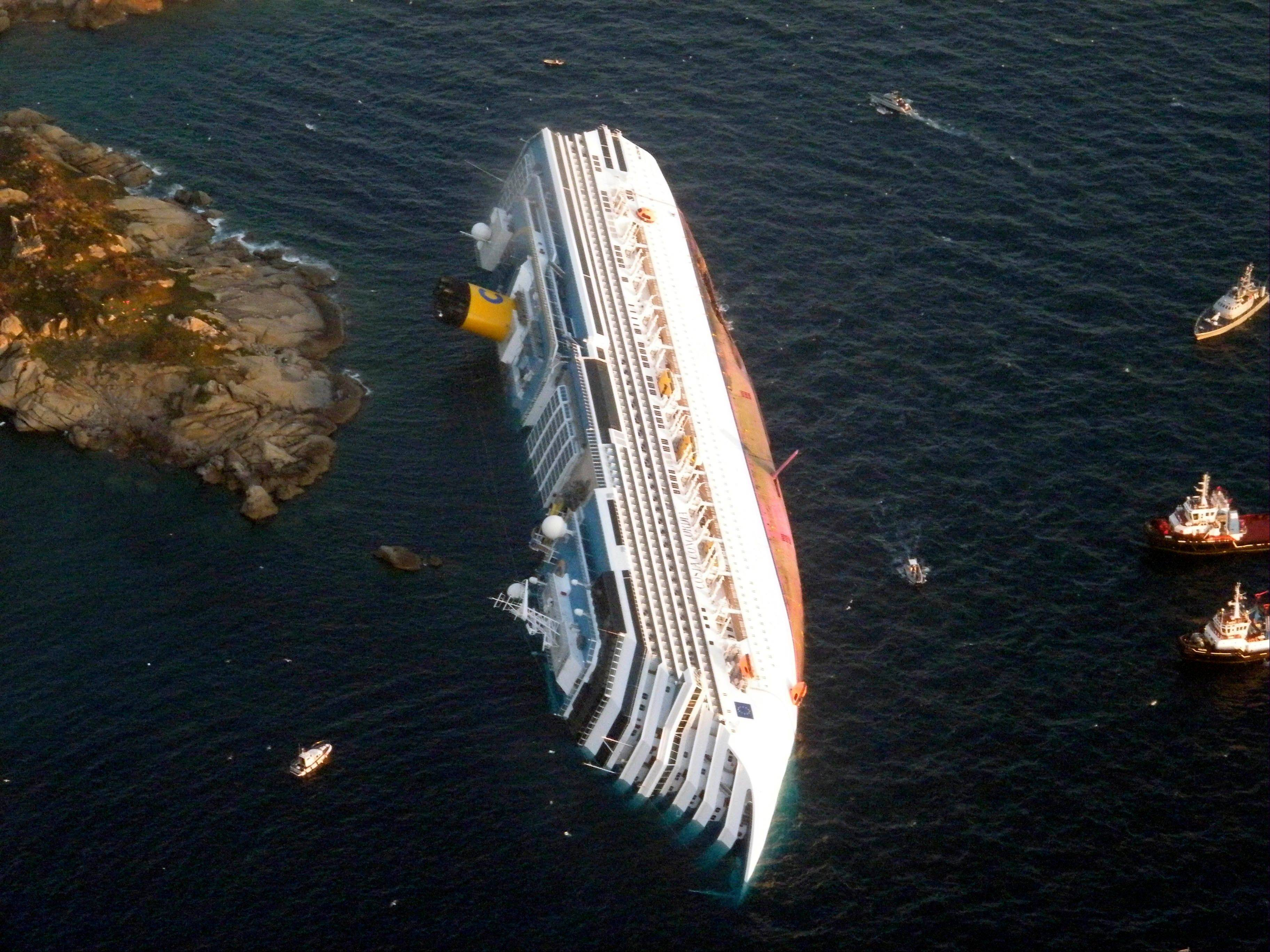 A judge in Tuscany fined Italian cruise line Costa Crociere SpA $1.3 million Wednesday, April 10, 2013 for the 2012 shipwreck that killed 32 people.