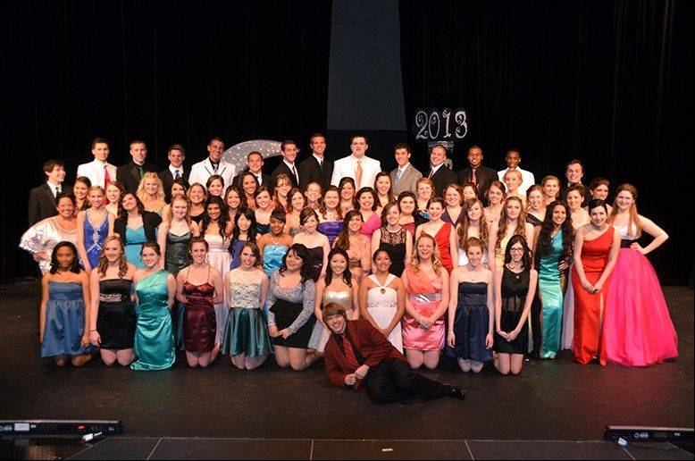 This is the group of Fremd High School student participants in the 2013 Prom Fashion Show.