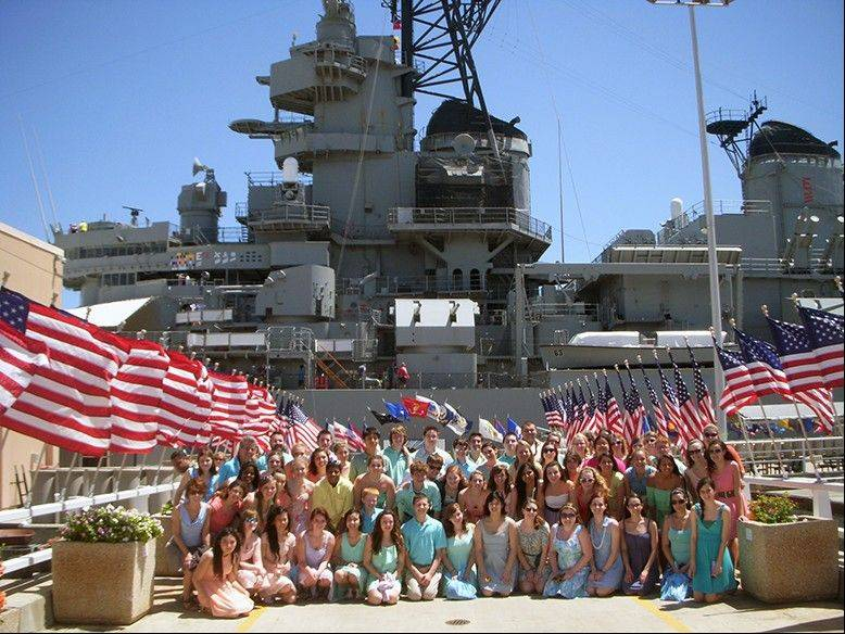 The Palatine High School choir visits Pearl Harbor during its spring break trip to Hawaii.