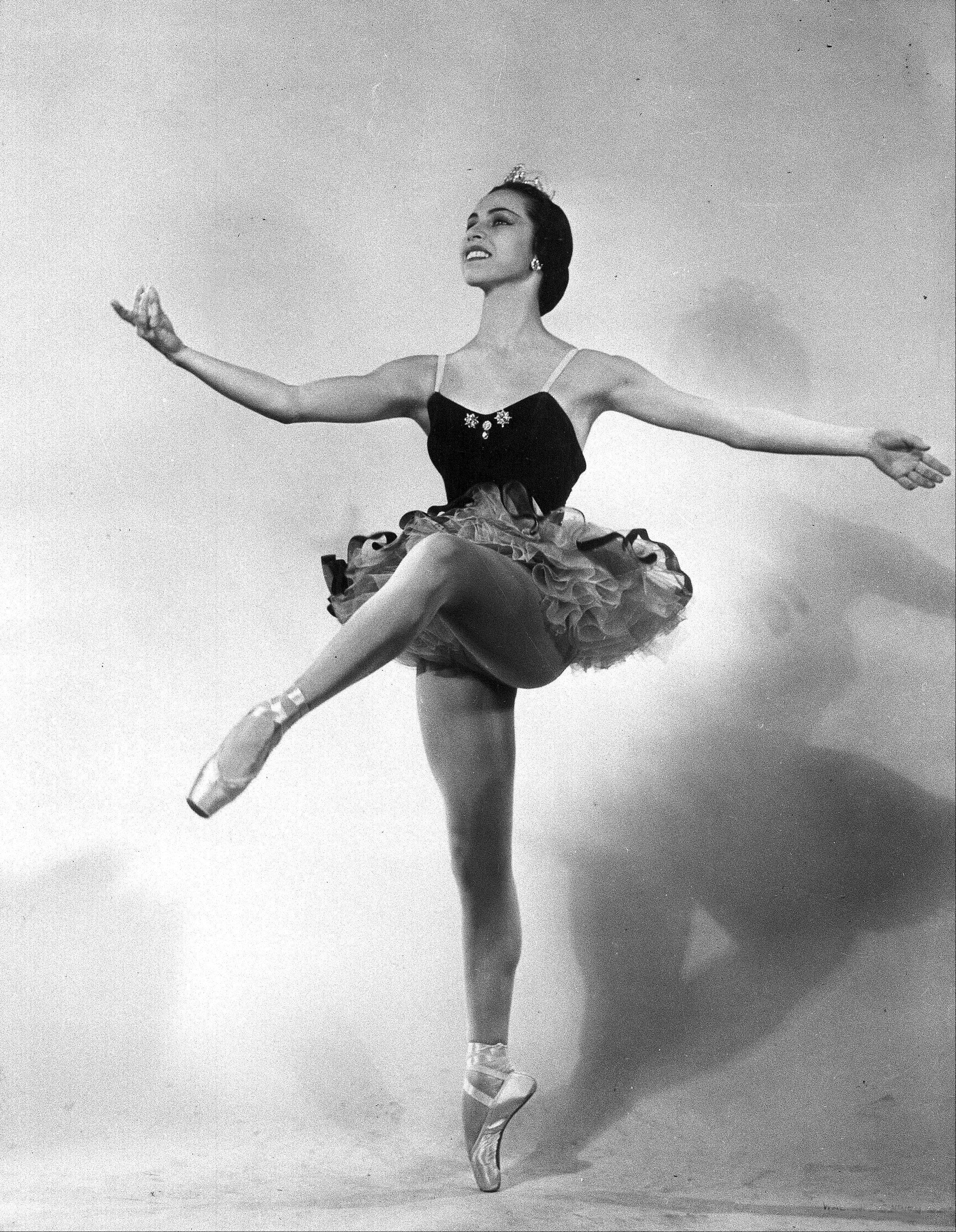 This 1951 file photo shows ballet dancer Maria Tallchief of the New York City Ballet. Tallchief died Thursday in Chicago at the age of 88.