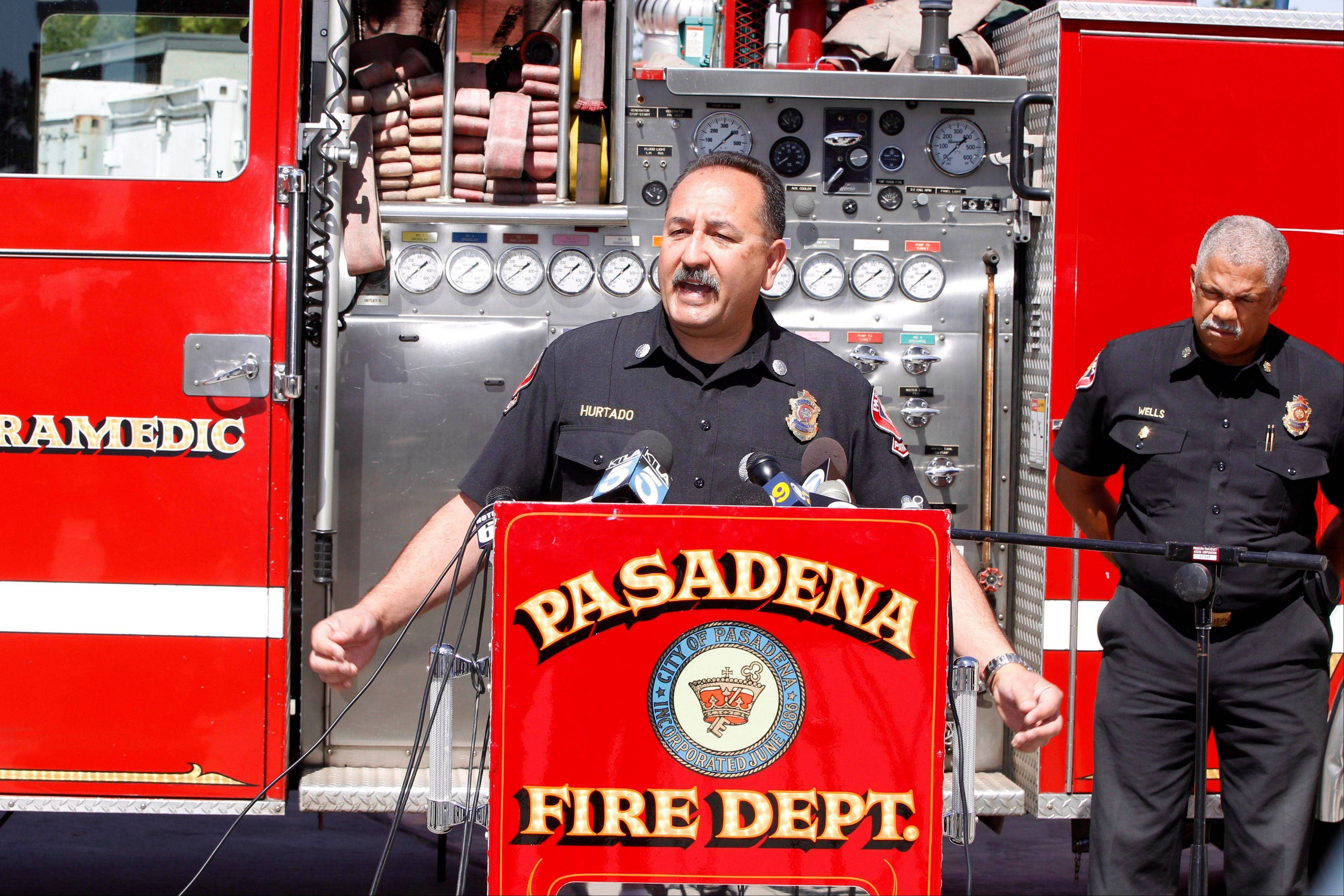 Art Hurtado, Pasadena Fire captain and paramedic, helped save the life of a man at Home Depot after the victim apparently tried to cut his arms off using handsaws. With help from police and store employees, Hurtado who was off-duty collected rope and rags from store shelves and put makeshift tourniquets on both arms, most likely saving the man�s life, police said.