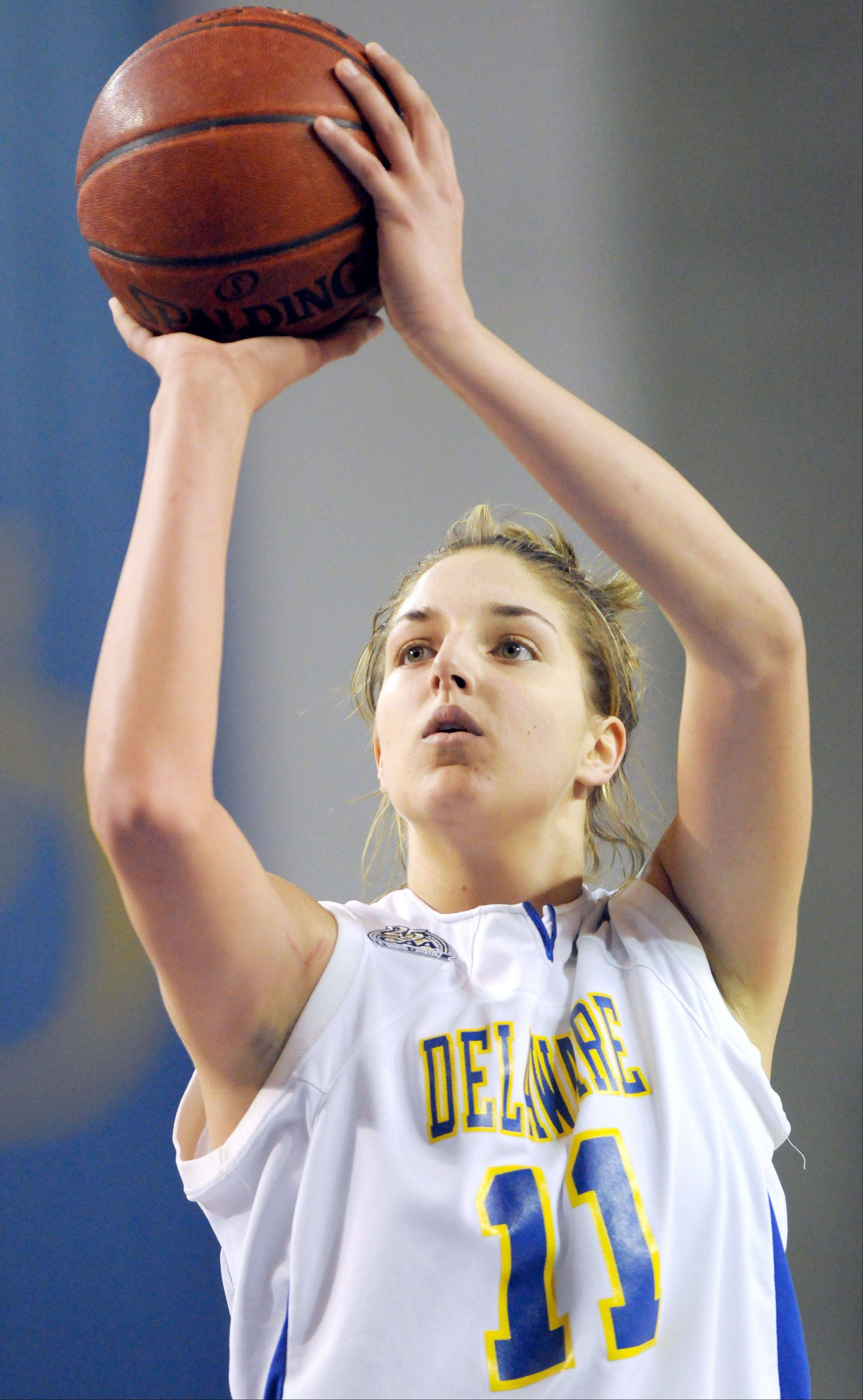 Delaware's Elena Delle Donne is the Chicago Sky's likely WNBA draft choice Monday.