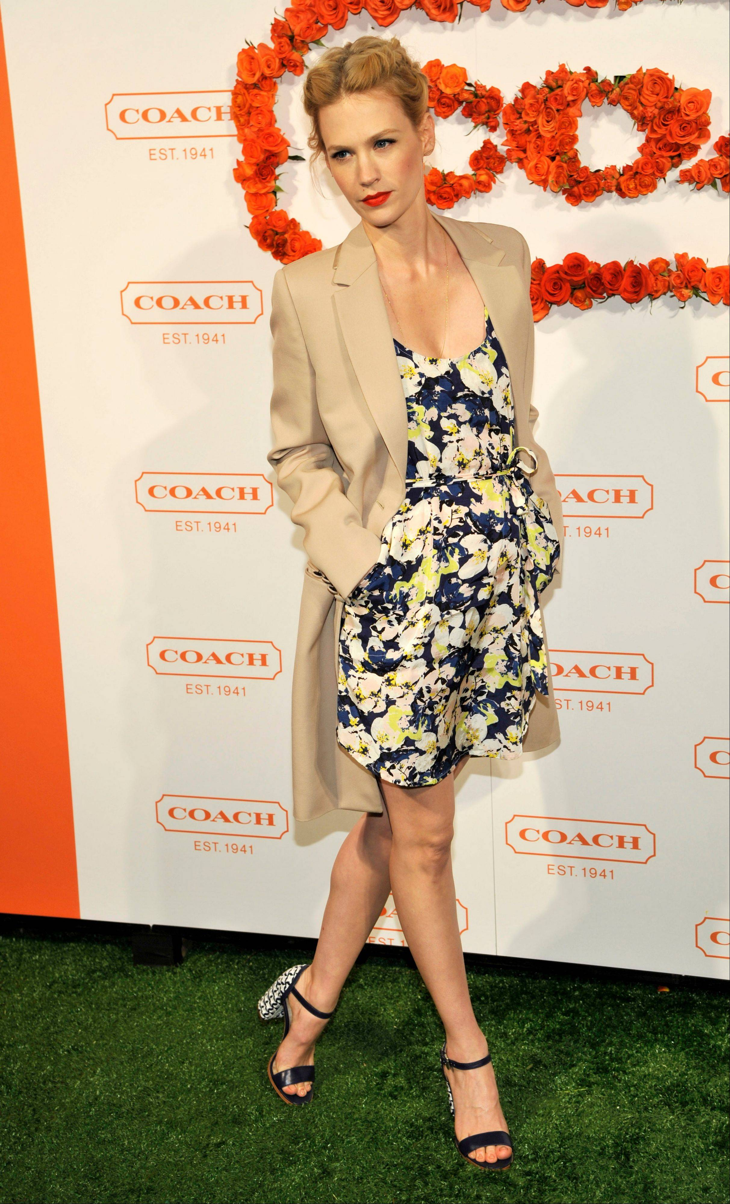 Actress January Jones arrives at the 3rd Annual Coach Evening to Benefit Children's Defense Fun at Bad Robot.
