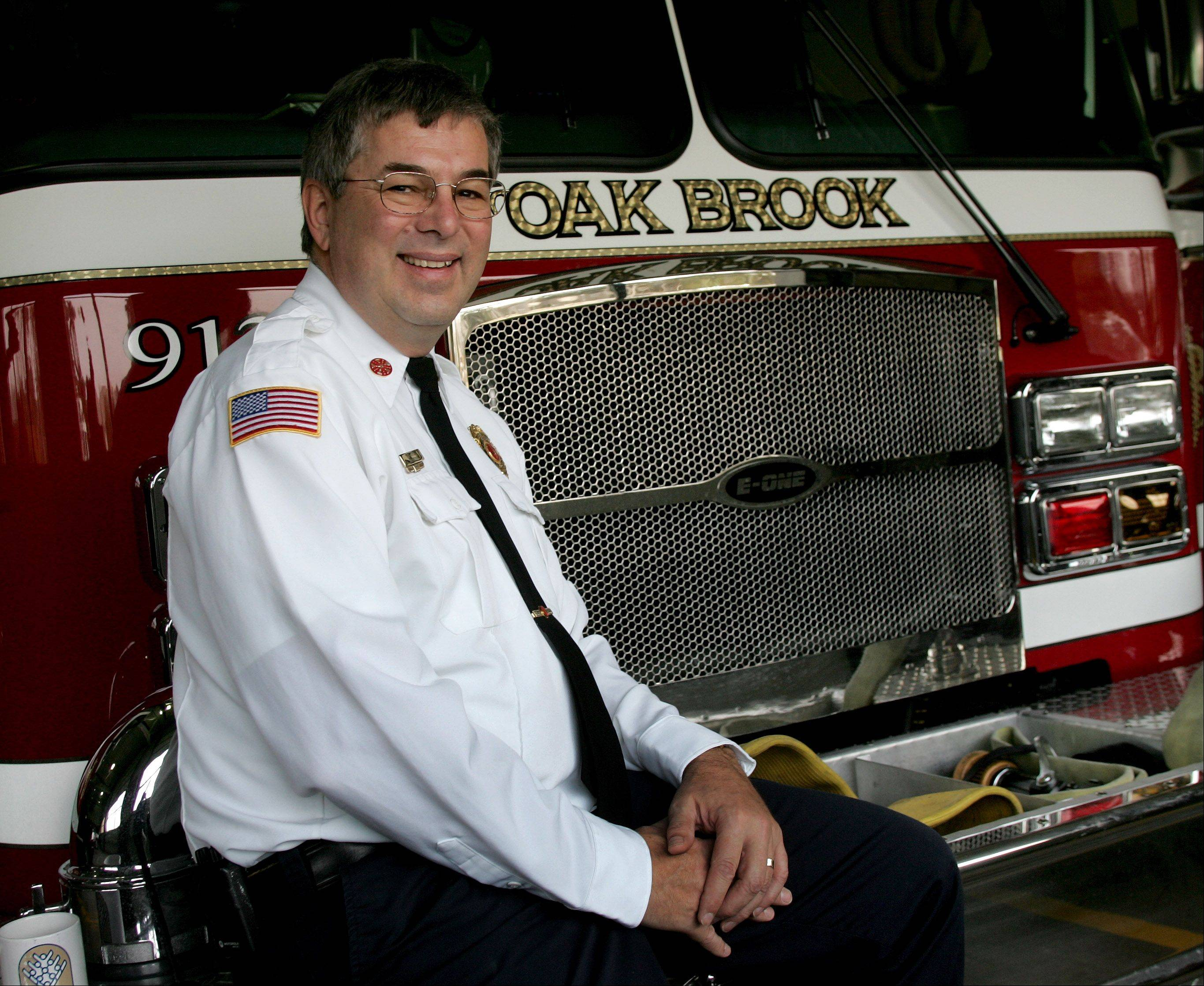 James Bodony, seen here before retiring from the Oak Brook Fire Department, will lead the Glen Ellyn Volunteer Fire Company until April 2014.