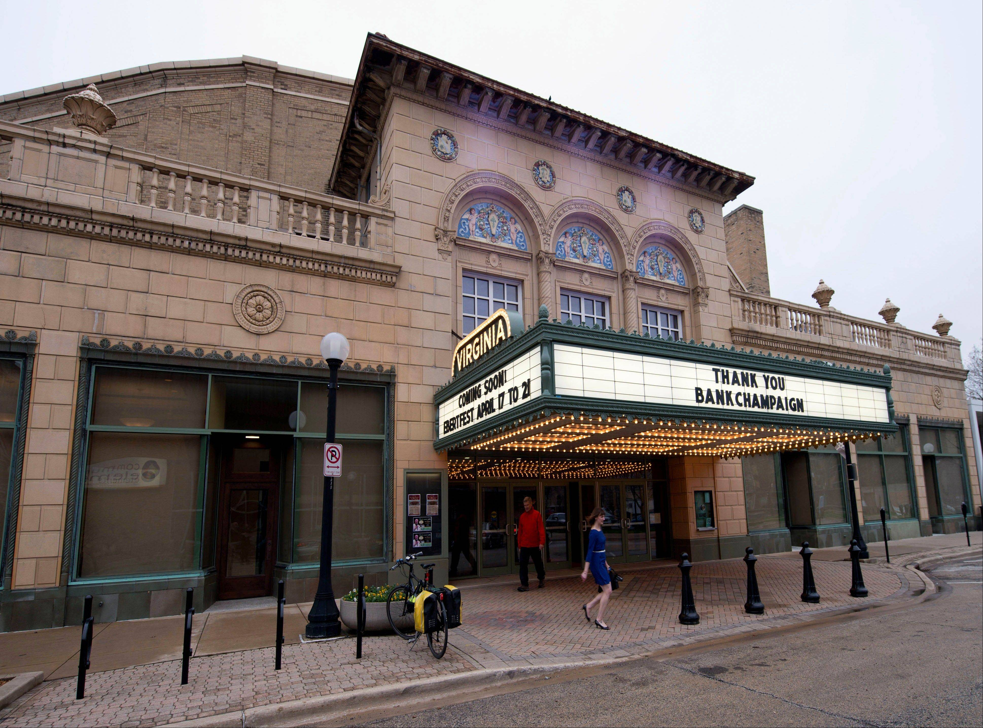The renovated Virginia Theater will plays host to the annual Ebertfest film festival beginning Wednesday, April 17, in Champaign.