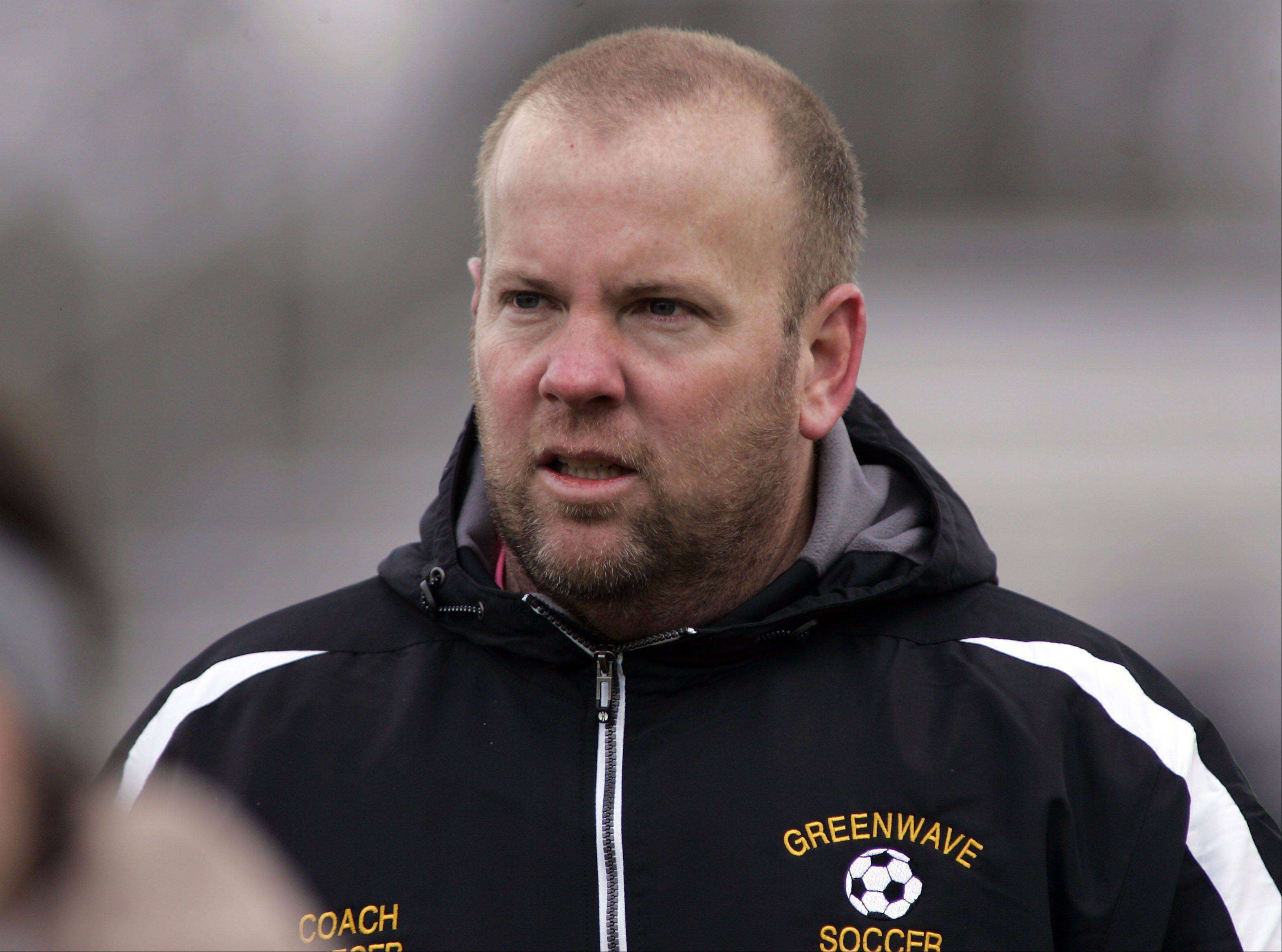 St. Edward soccer coach Tim Brieger won his 200th game with the girls program Saturday.