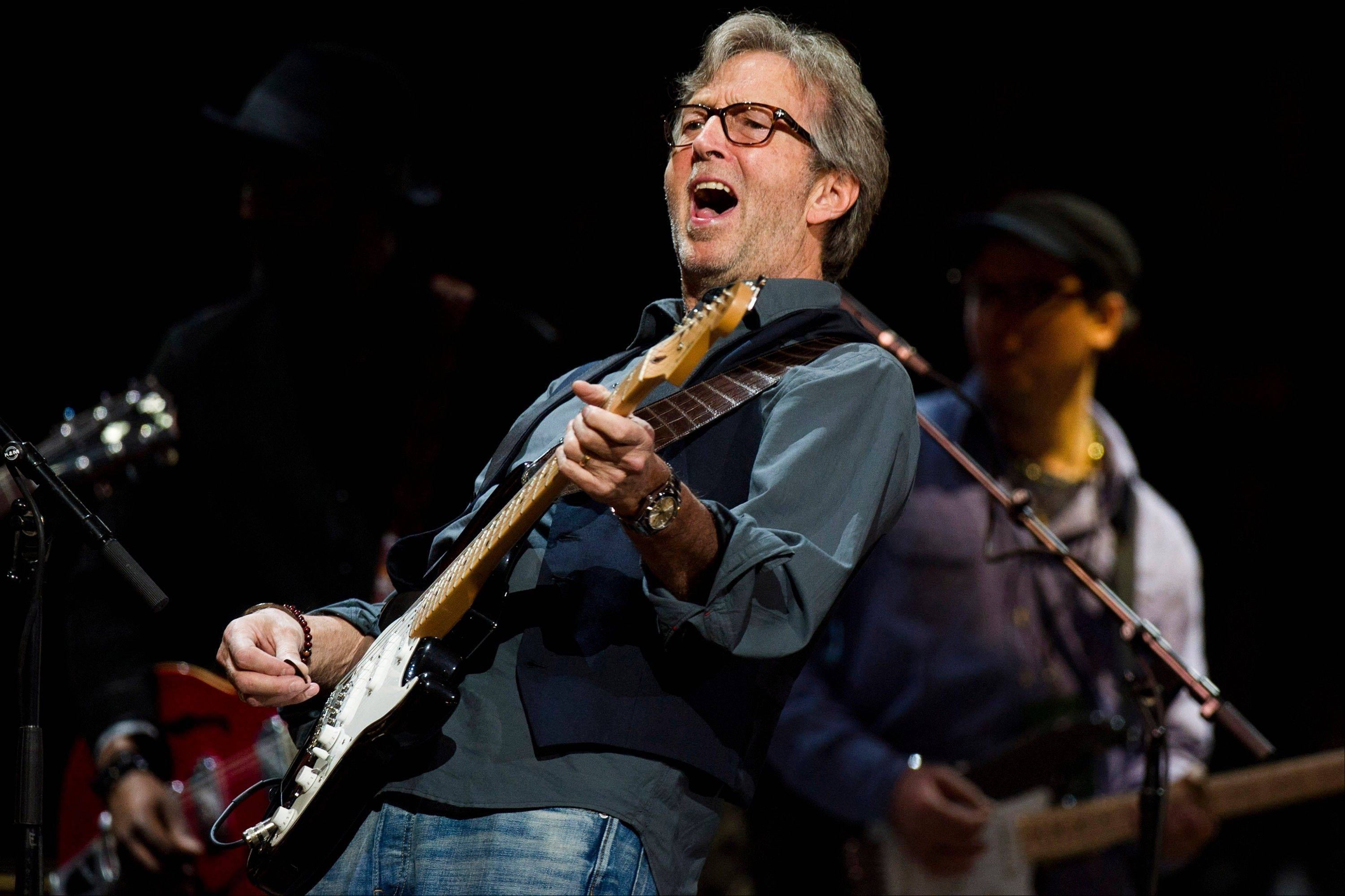 Eric Clapton performs at his Crossroads Guitar Festival 2013 at Madison Square Garden.
