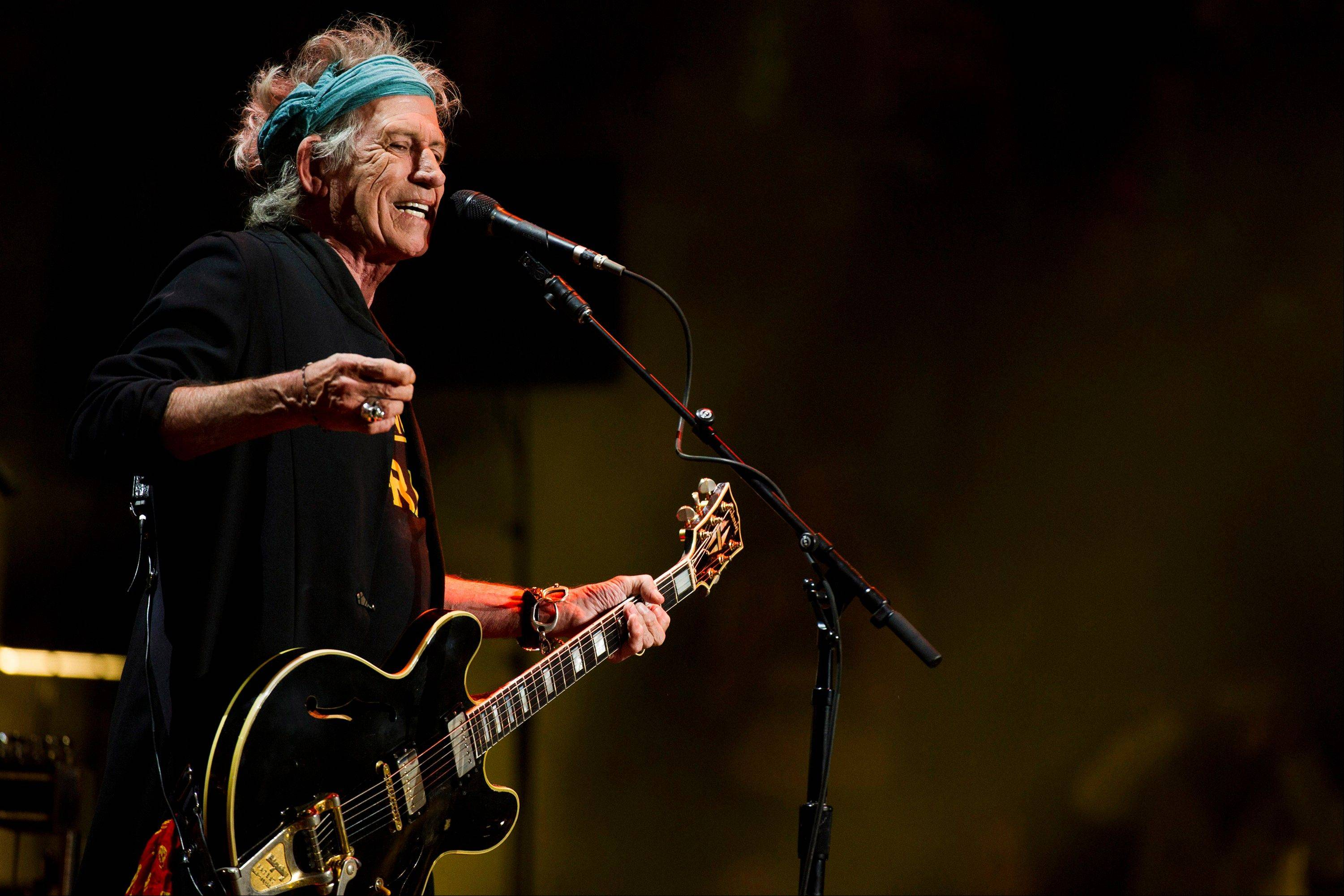 Keith Richards performs at Eric Clapton's Crossroads Guitar Festival 2013 at Madison Square Garden on Saturday.