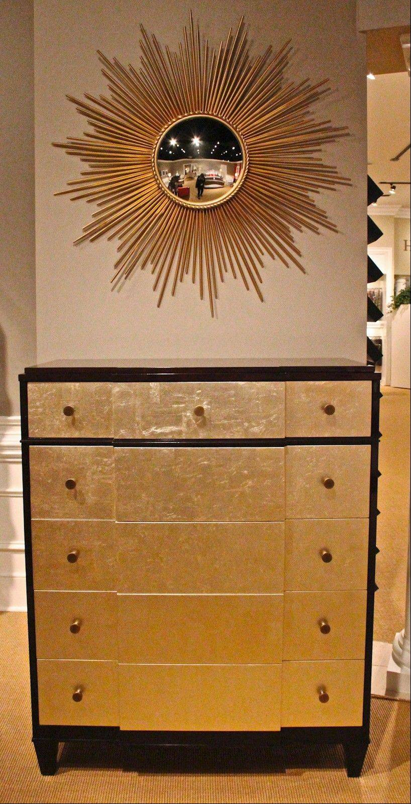 The Devin Chest by Councill with gold leaf facing.