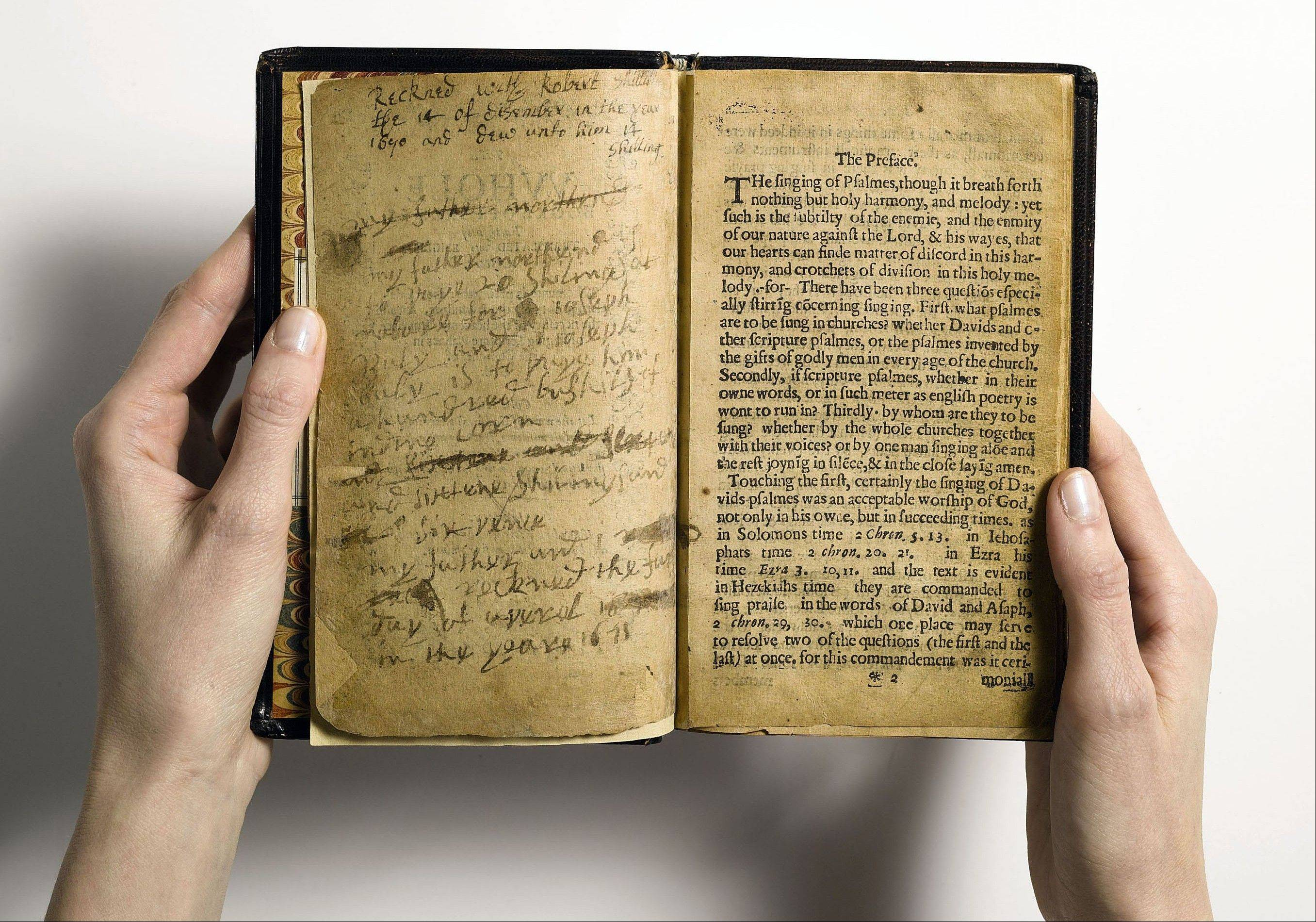 The first edition of the resulting Bay Psalm Book was printed in Cambridge, Mass. in 1640. Its estimated value is $15 million to $30 million.