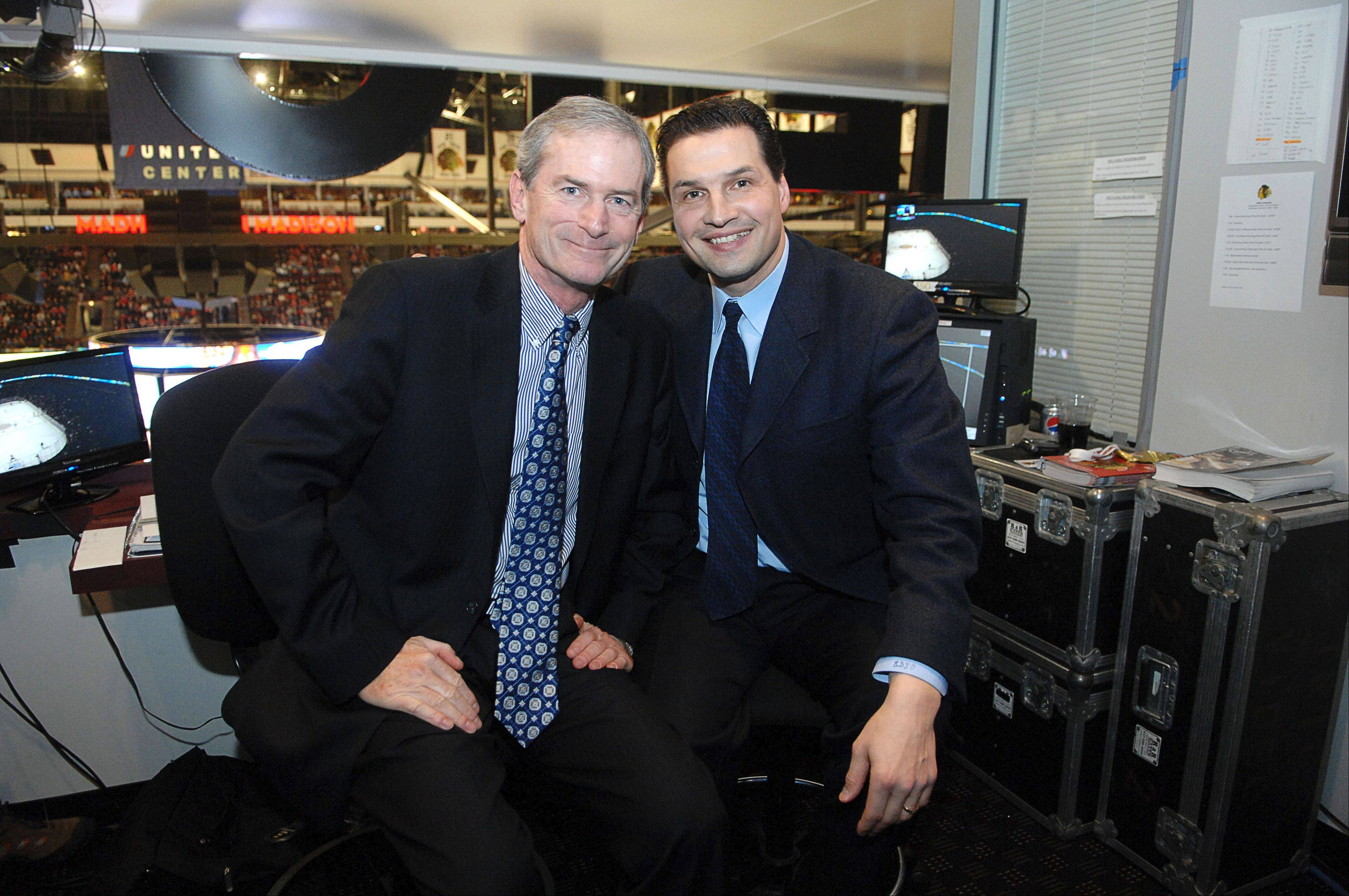 Pat Foley, left, and TV partner Eddie Olczyk form one of the best broadcast teams in the business.