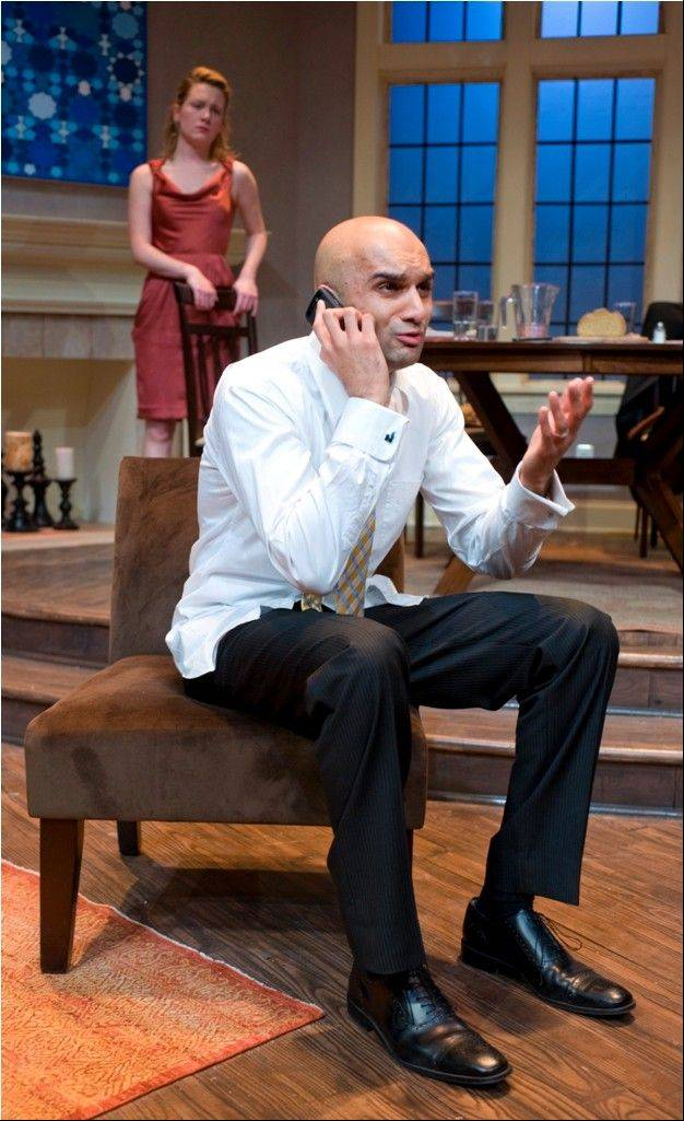 Lee Stark and Usman Ally starred in the 2012 world premiere of �Disgraced� at American Theater Company in Chicago. The play by Ayad Akhtar won the 2013 Pulitzer Prize for Drama.