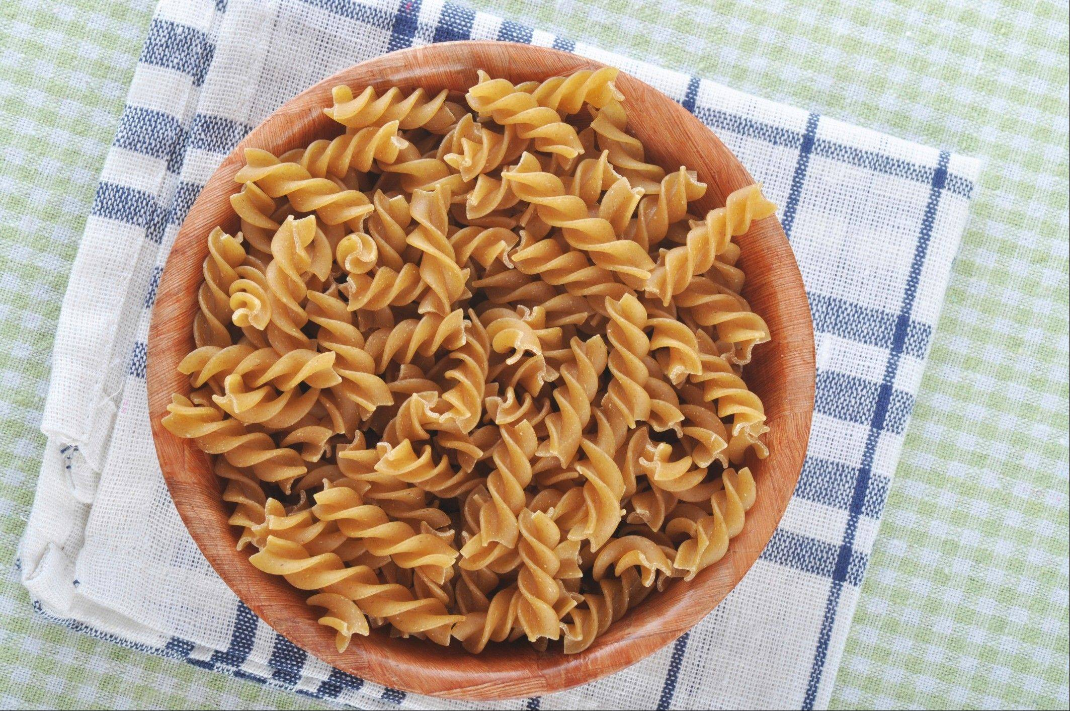 A small serving of whole wheat pasta with dinner can help you lose weight. The key is not overdoing it.
