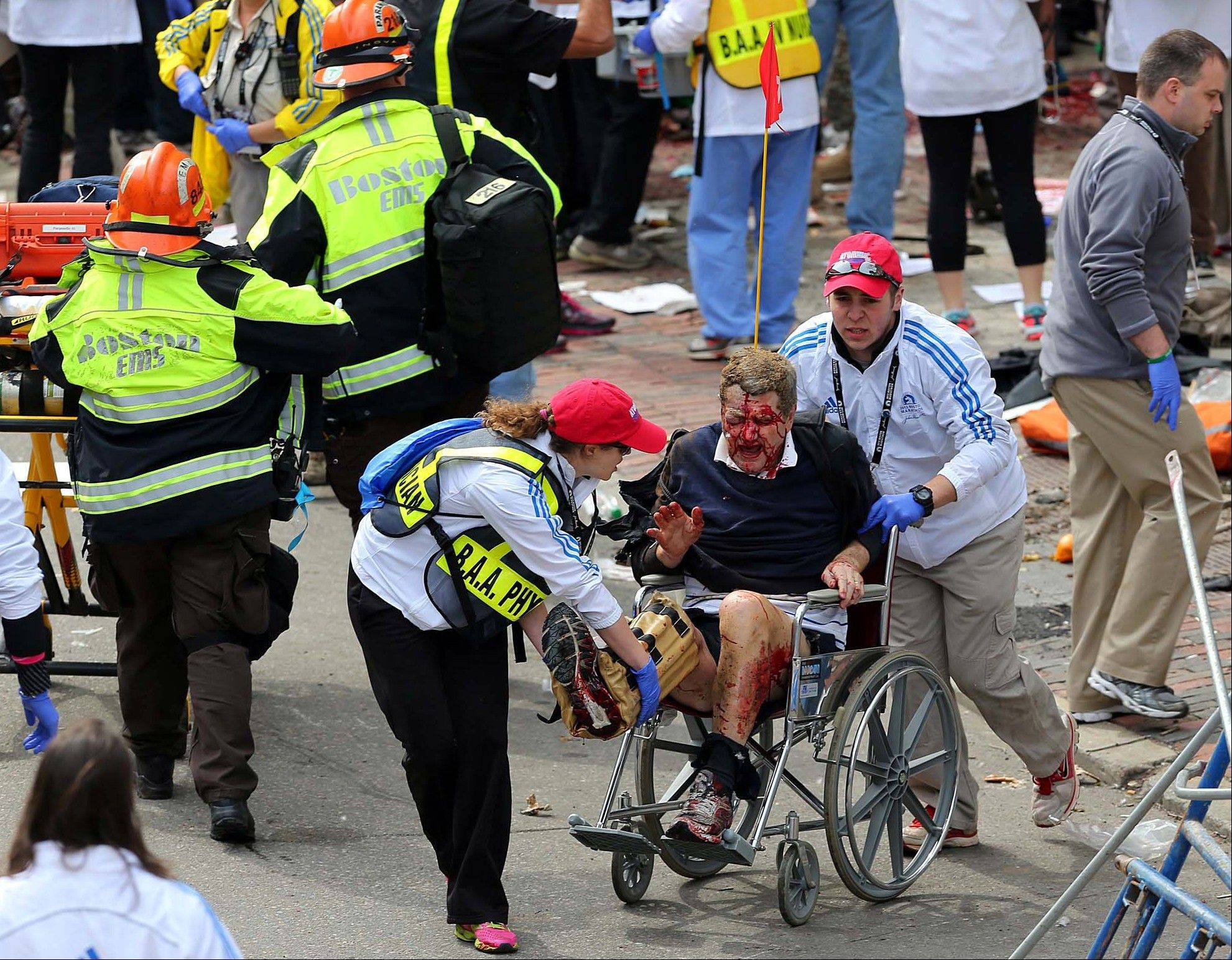 Images: Explosions at the Boston Marathon