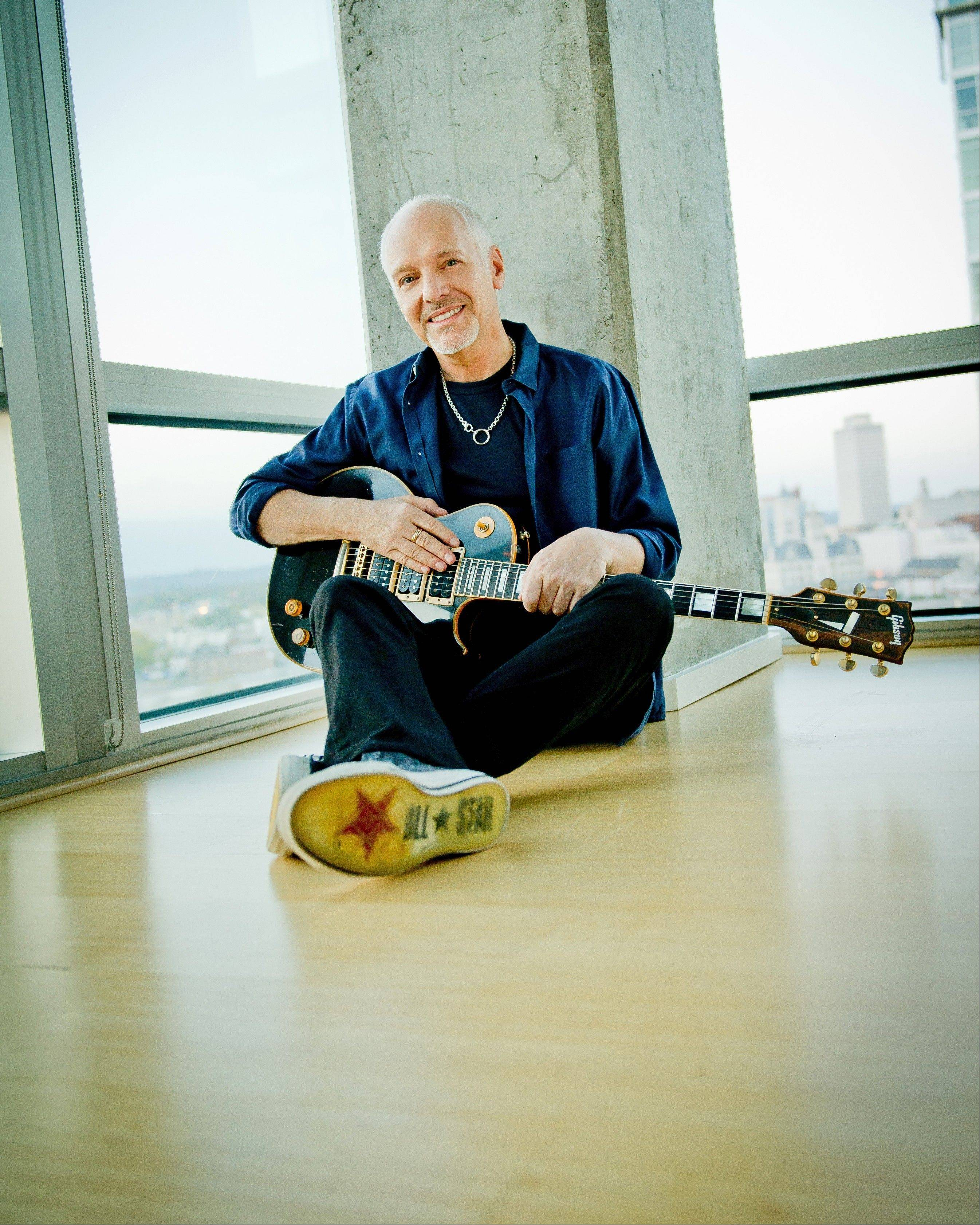 "Peter Frampton will bring ""Peter Frampton's Guitar Circus"" to RiverEdge Park in Aurora on Aug. 16."