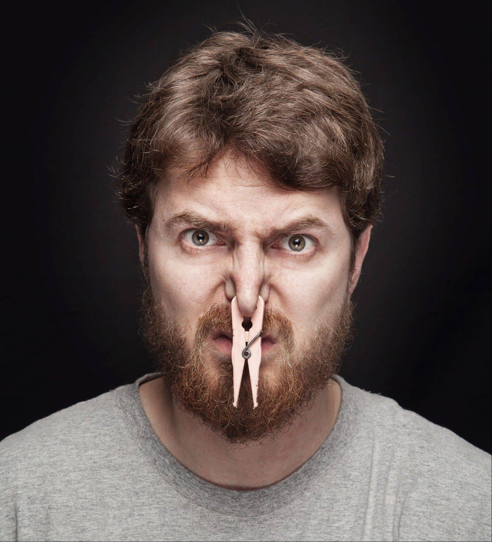People react differently to strong smells.