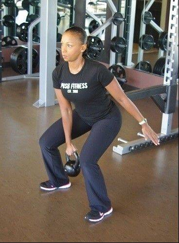Kettlebell swing starting position