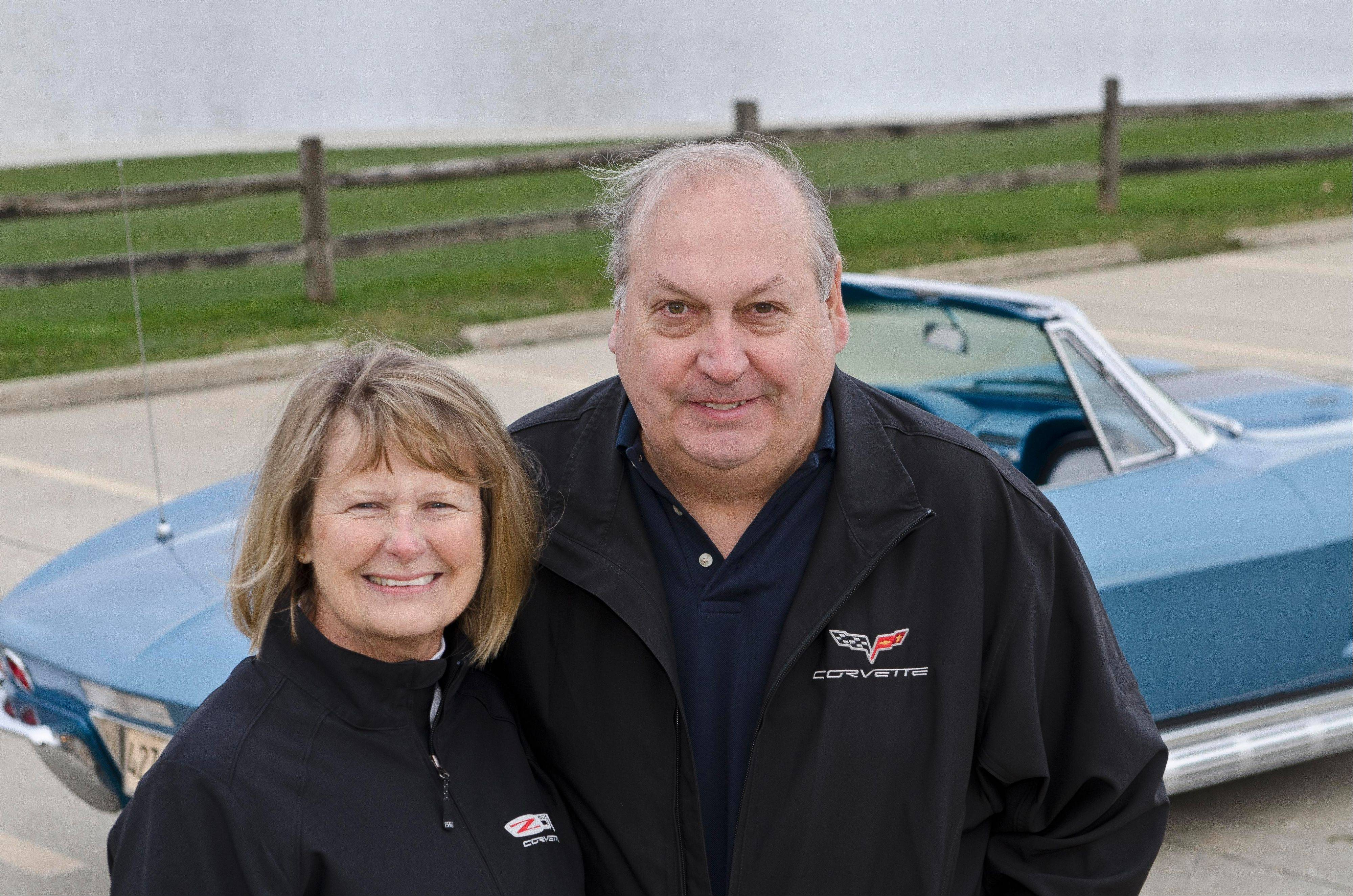Corvette enthusiasts Jerry and Felicia Mulick of Northfield enjoy attending area cruise nights.