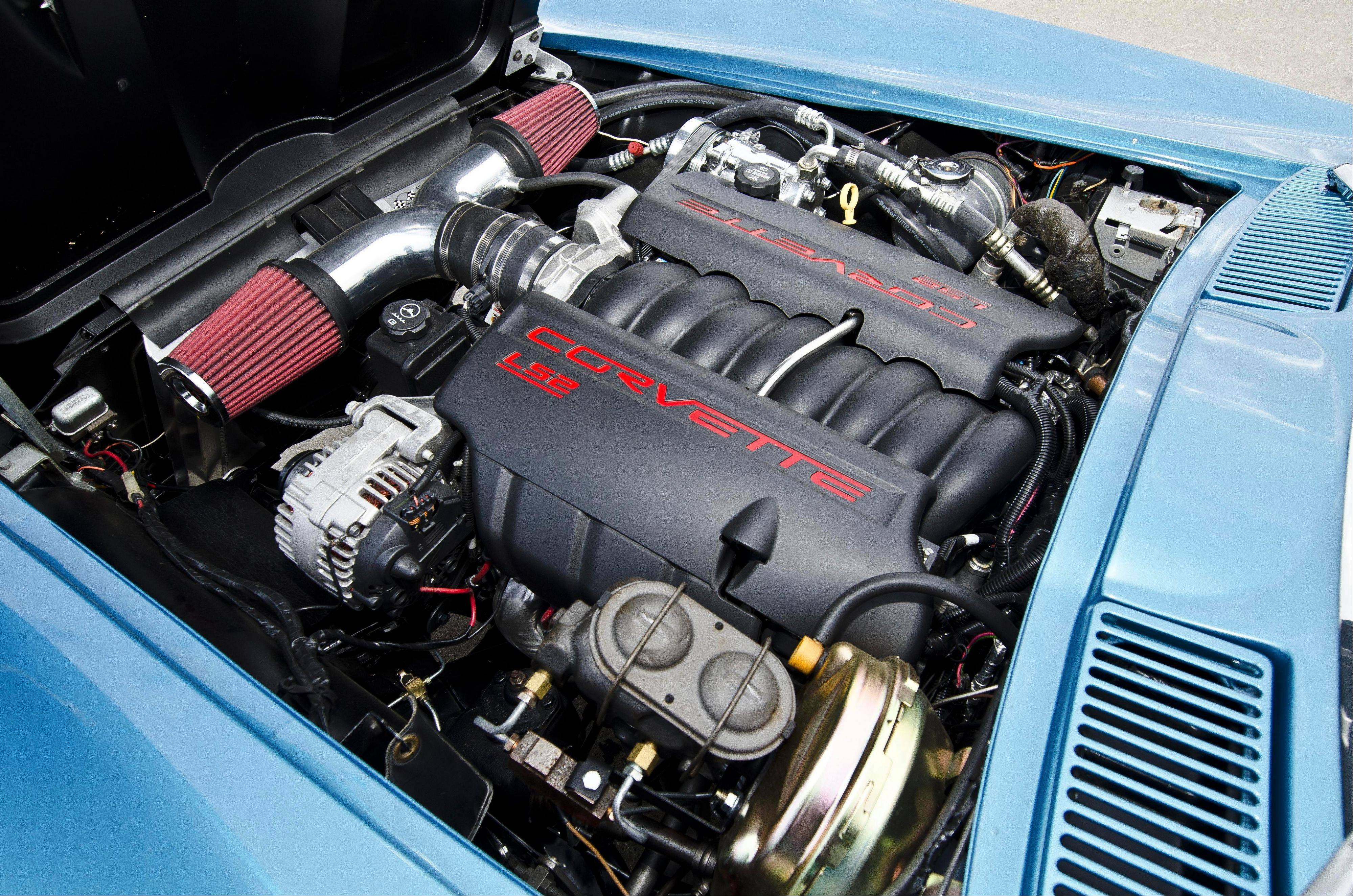 This vintage Vette has a young, powerful powerplant under its hood.