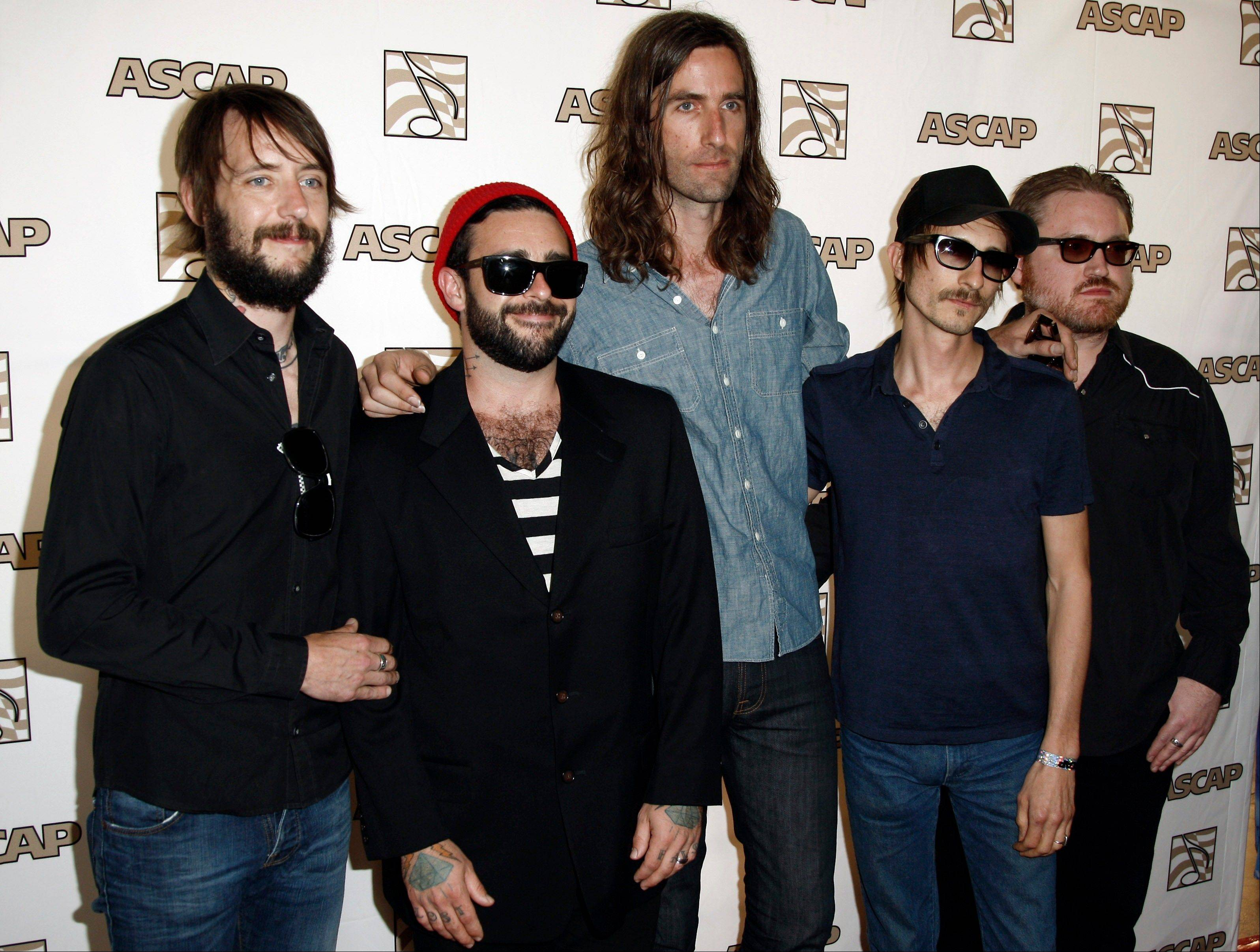 Band of Horses — Ben Bridwell, left, Creighton Barrett, Tyler Ramsey, Bill Reynolds and Ryan Monroe — recently went on tour.