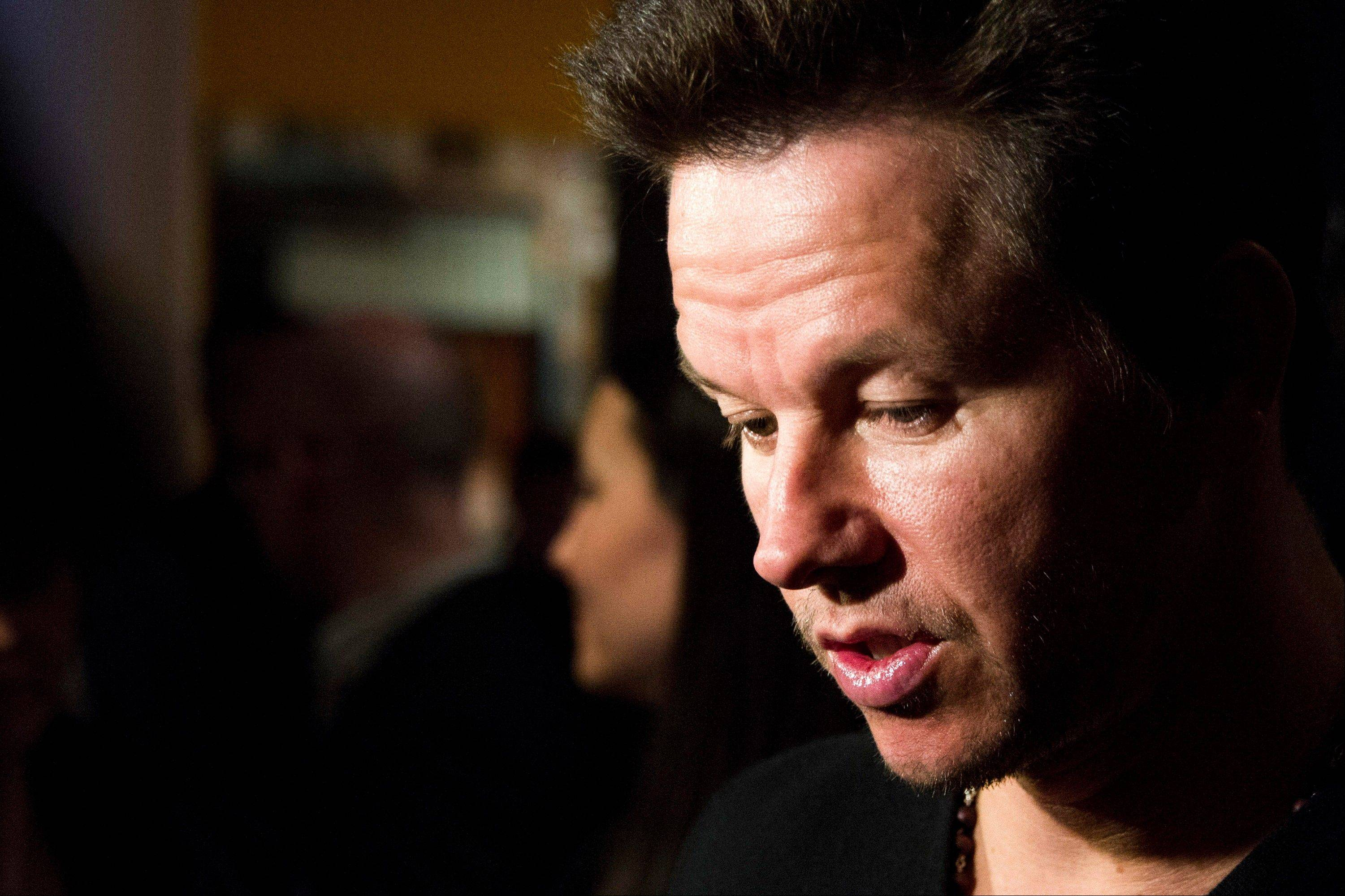 "Mark Wahlberg attends a screening of ""Pain & Gain"" on Monday in New York."