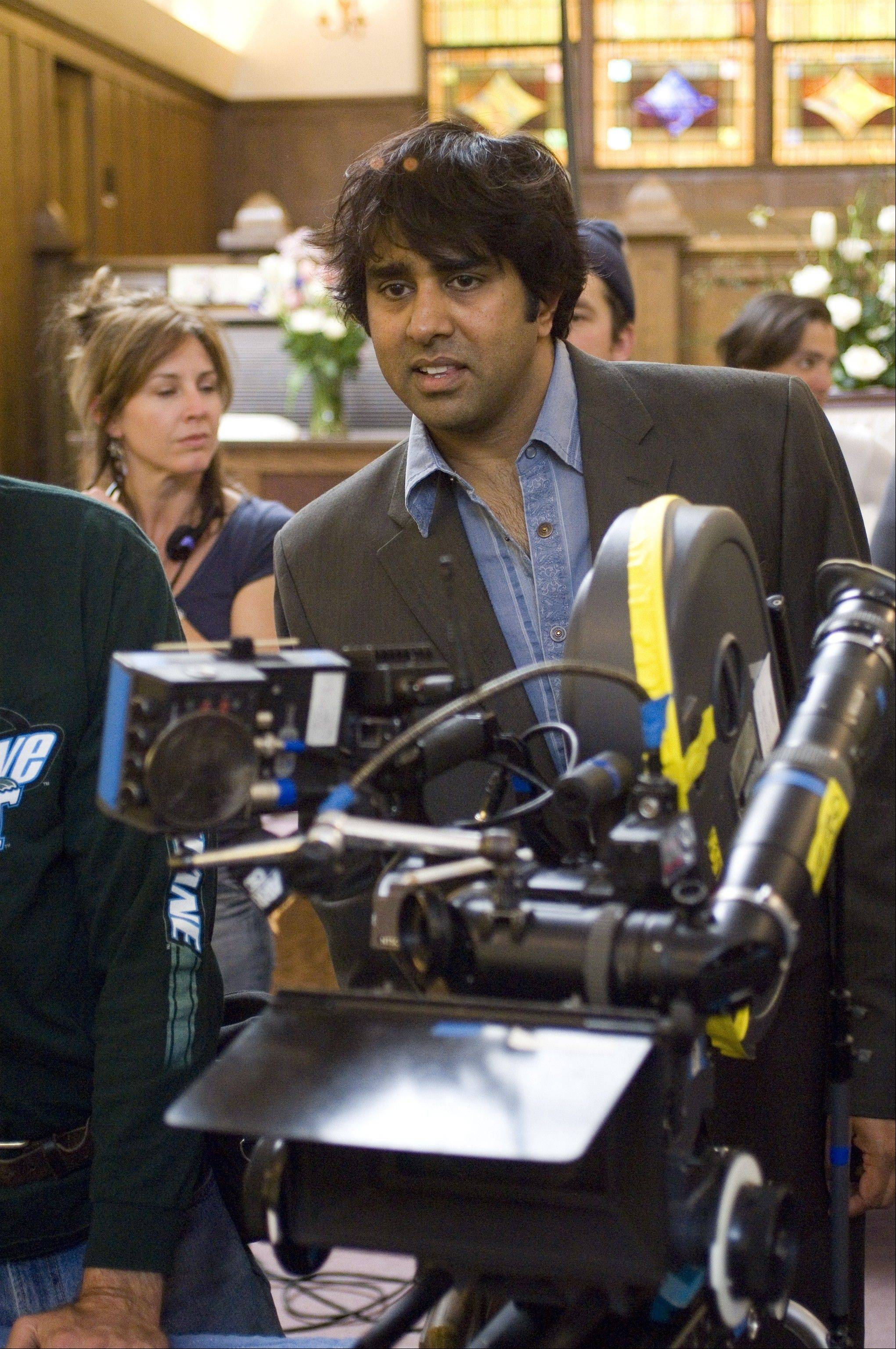 "Former Hinsdale resident Jay Chandrasekhar, seen here directing a scene for the film ""Beerfest,"" will perform his standup comedy routine on Friday, April 19, at the Laugh Factory in Chicago."