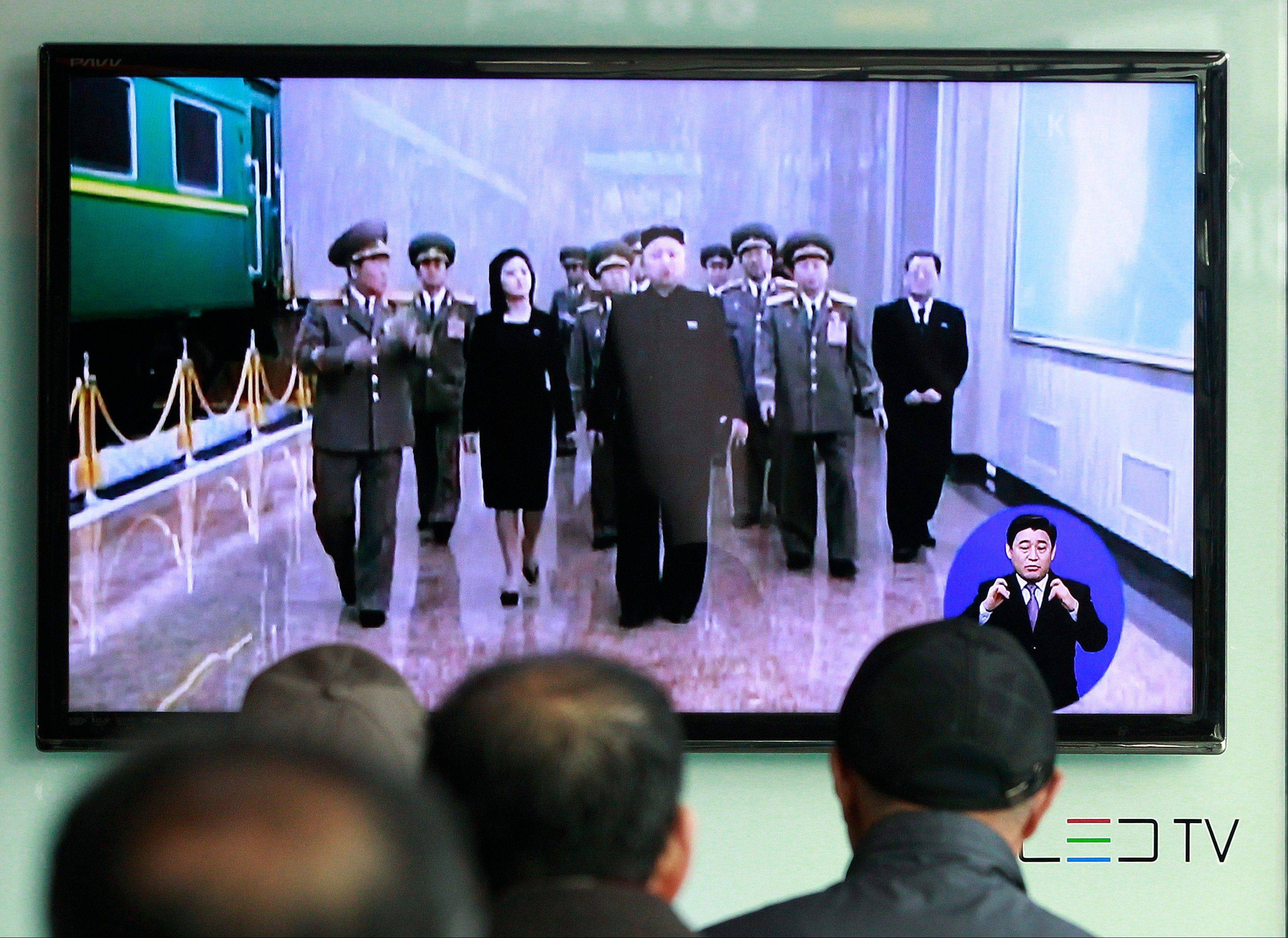 People in Seoul, South Korea, watch TV news program showing North Korean leader Kim Jong Un. In his 16 months on the job, Kim's government has raised fears with unusually aggressive threats against Seoul and Washington, and it's not clear whether he will be able to pull back, a feat perfected by his late father, considered a master at brinkmanship.
