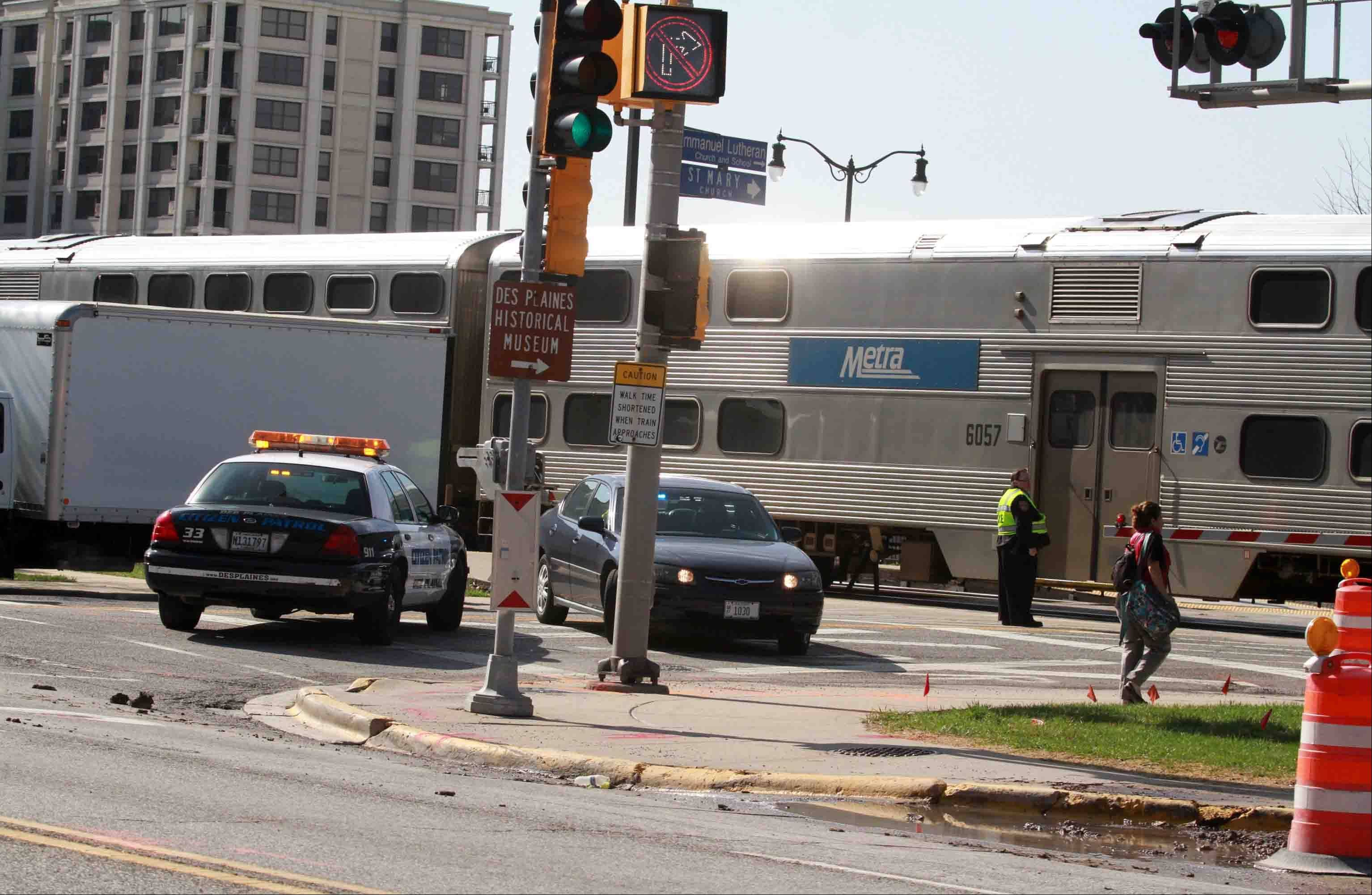 metra trains resume service after pedestrian accident in