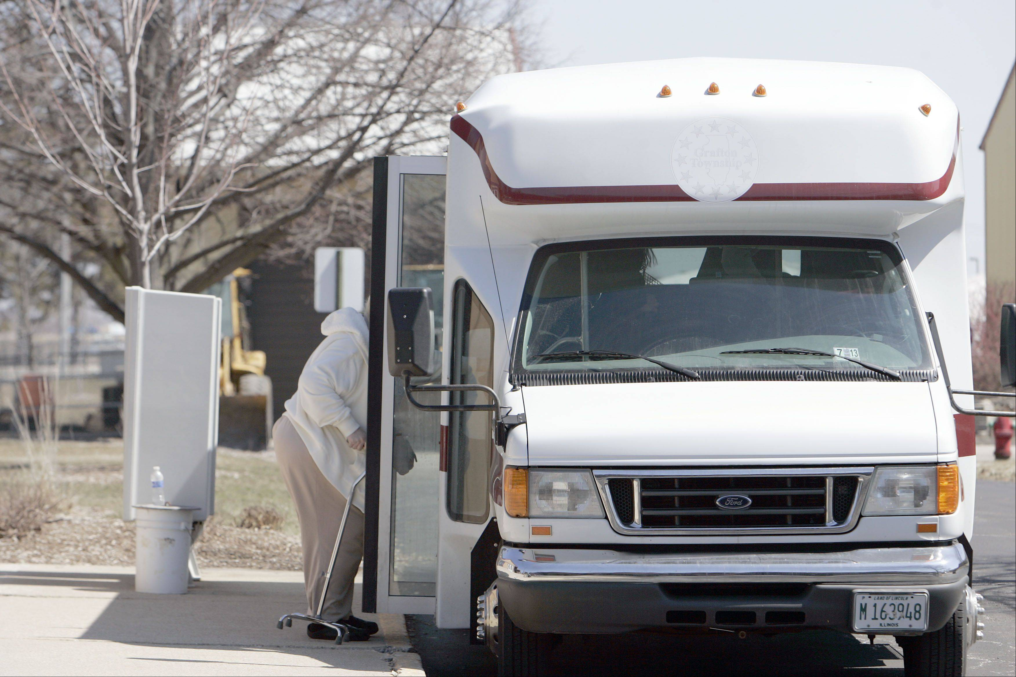 Outgoing Grafton Township Supervisor Linda Moore had threatened a shut down of township services, including this bus service for seniors and disabled people.