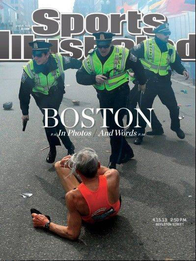 While this his week's cover of Sports Illustrated shows the terror that gripped Boston, it also shows a runner getting up, which is important for all of us, says Barry Rozner.