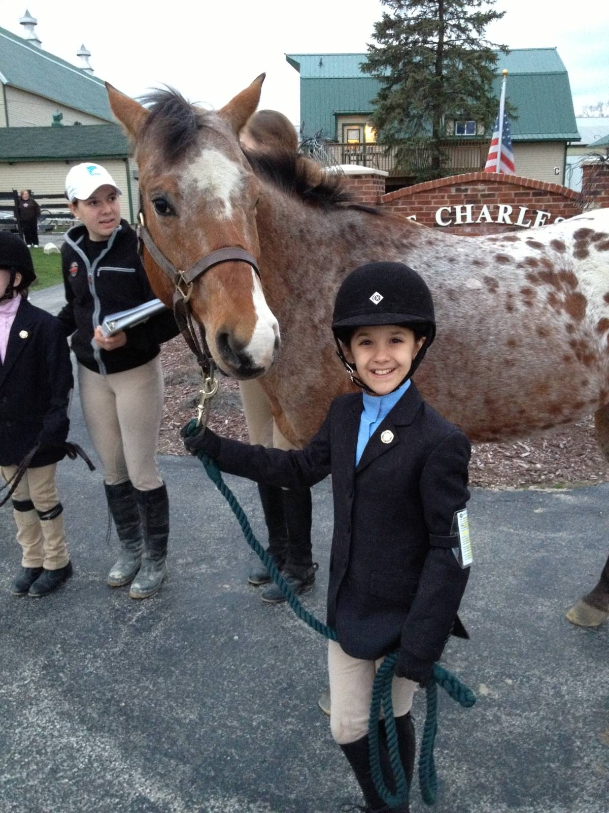 Grace Kucienski and Ziggy Stardust after earning their D-1 Certification for the United States Pony Clubs, Inc.