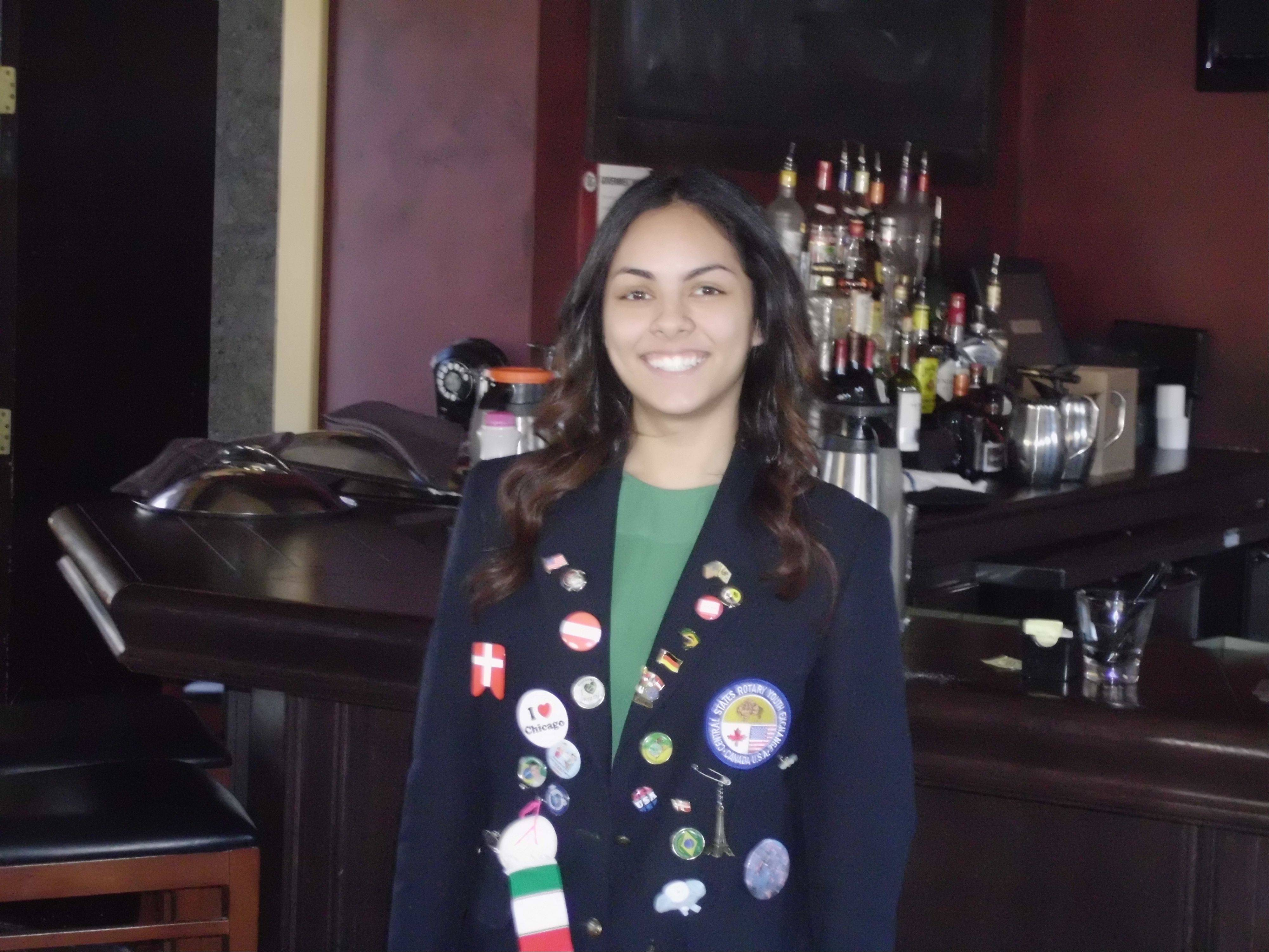 Burlington Central graduate Stephanie Foster is the Outbound Youth Exchange Student to Brazil, sponsored by St. Charles Rotary clubs and Elgin Rotary clubs of Rotary International District 6440.