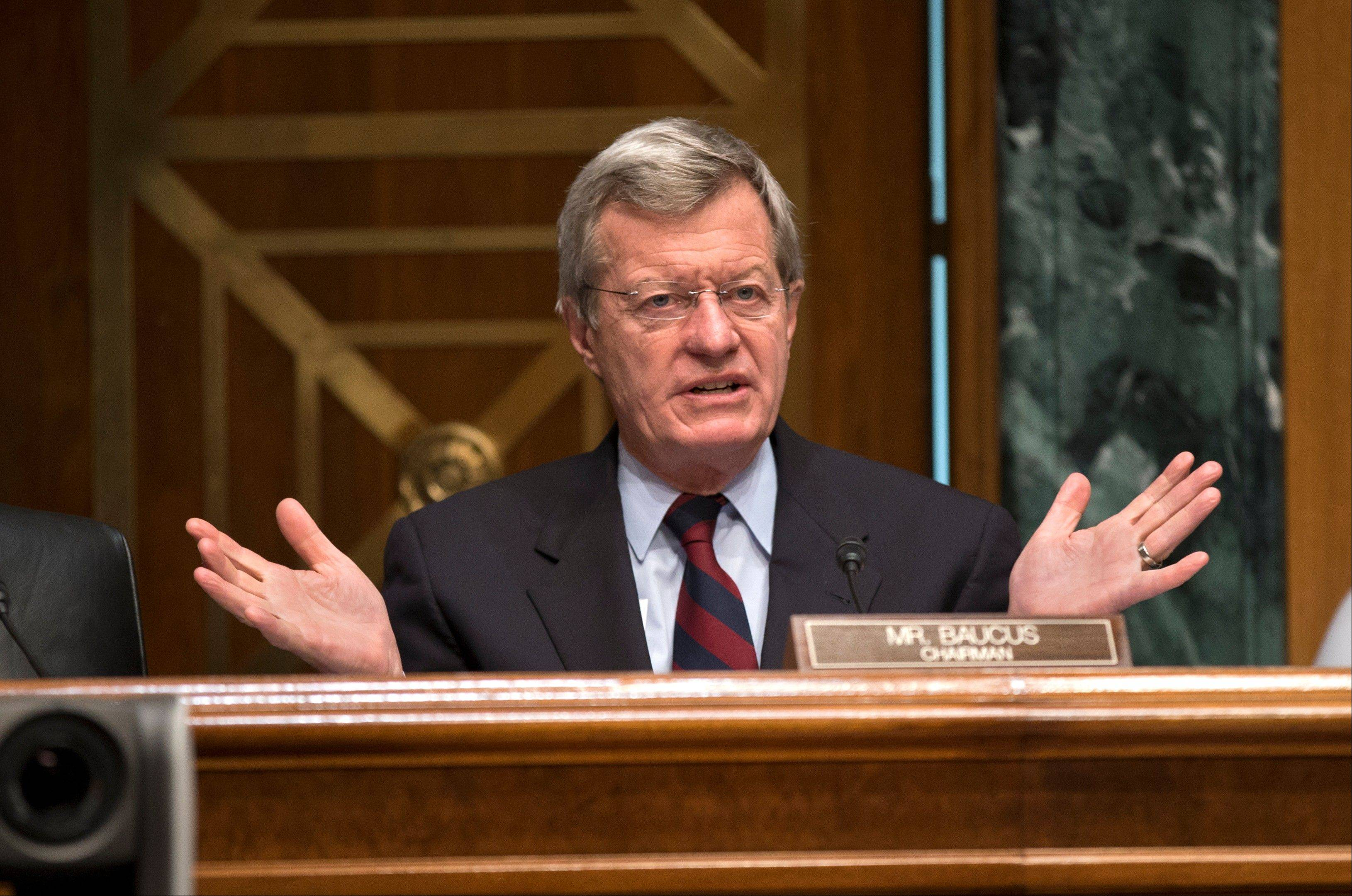 "Senate Finance Committee Chairman Sen. Max Baucus, who helped write President Barack Obama's health care law stunned administration officials Wednesday, saying he thinks it's headed for a ""train wreck."""