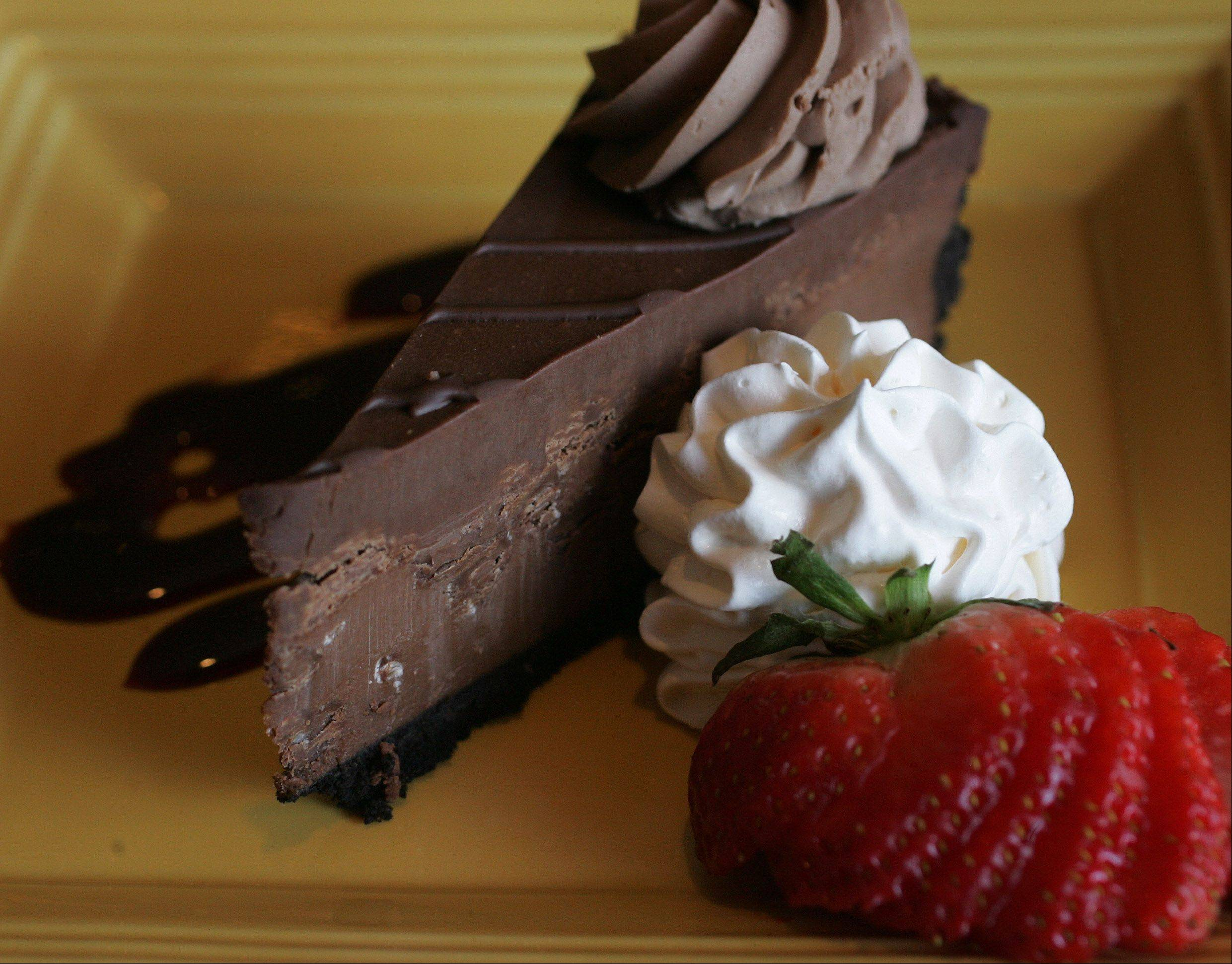 Chocolate Godiva cheesecake is a rich option for ending a meal at Confetti's in Gurnee.