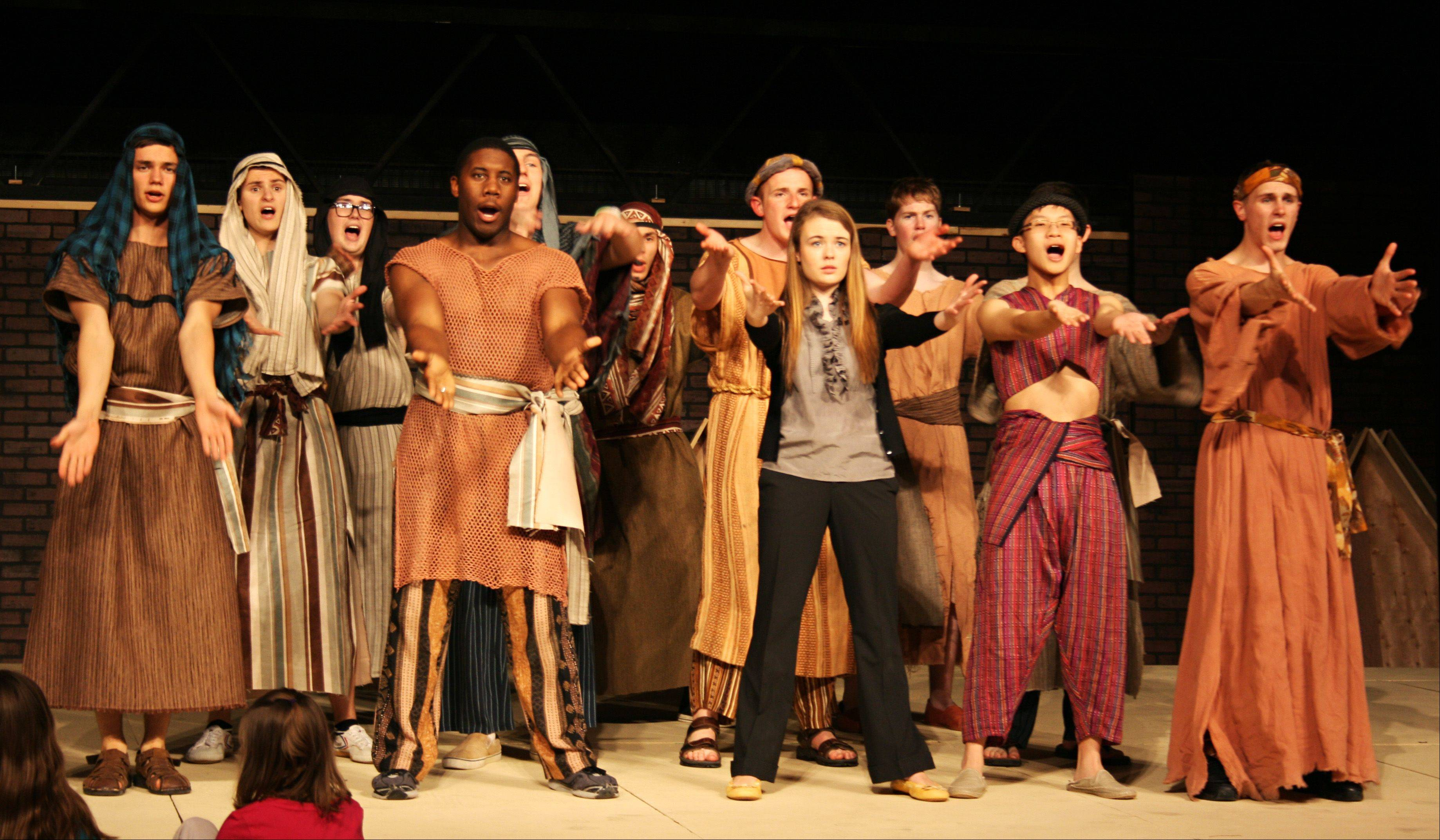 """Joseph and the Amazing Technicolor Dreamcoat"" is Marmion Academy's spring musical."
