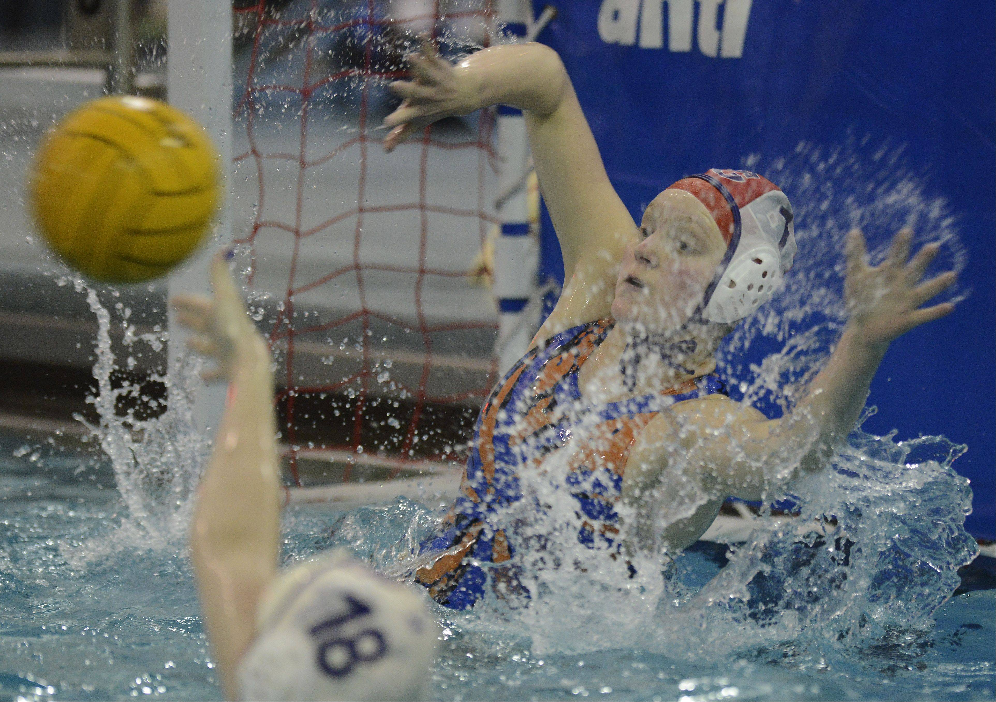 Buffalo Grove goalie Callie Fasching attempts a save during Wednesday's game at Wheeling.