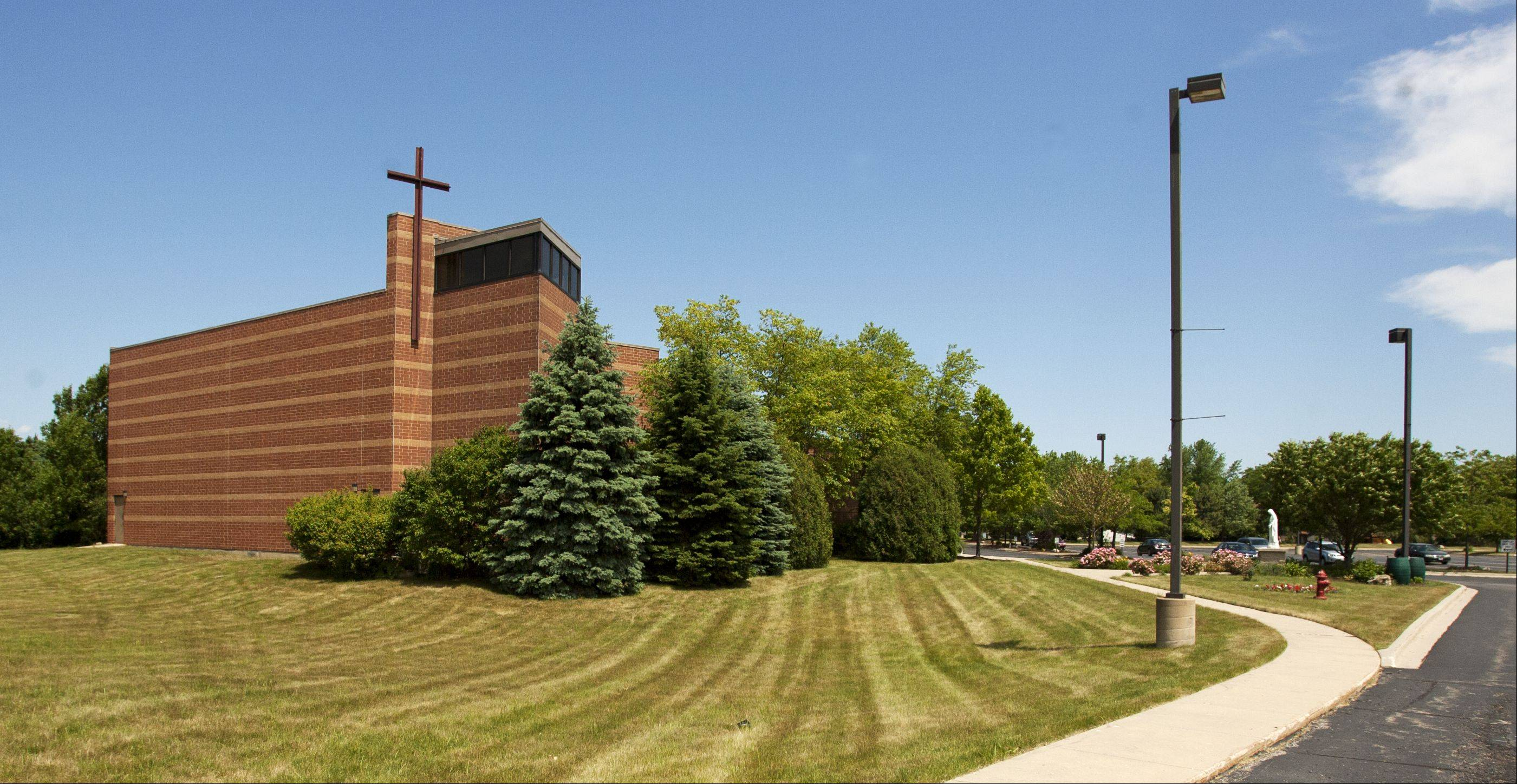 Corpus Christi Catholic Church in Carol Stream is seeking village permission to install and play bells on the exterior of the church.