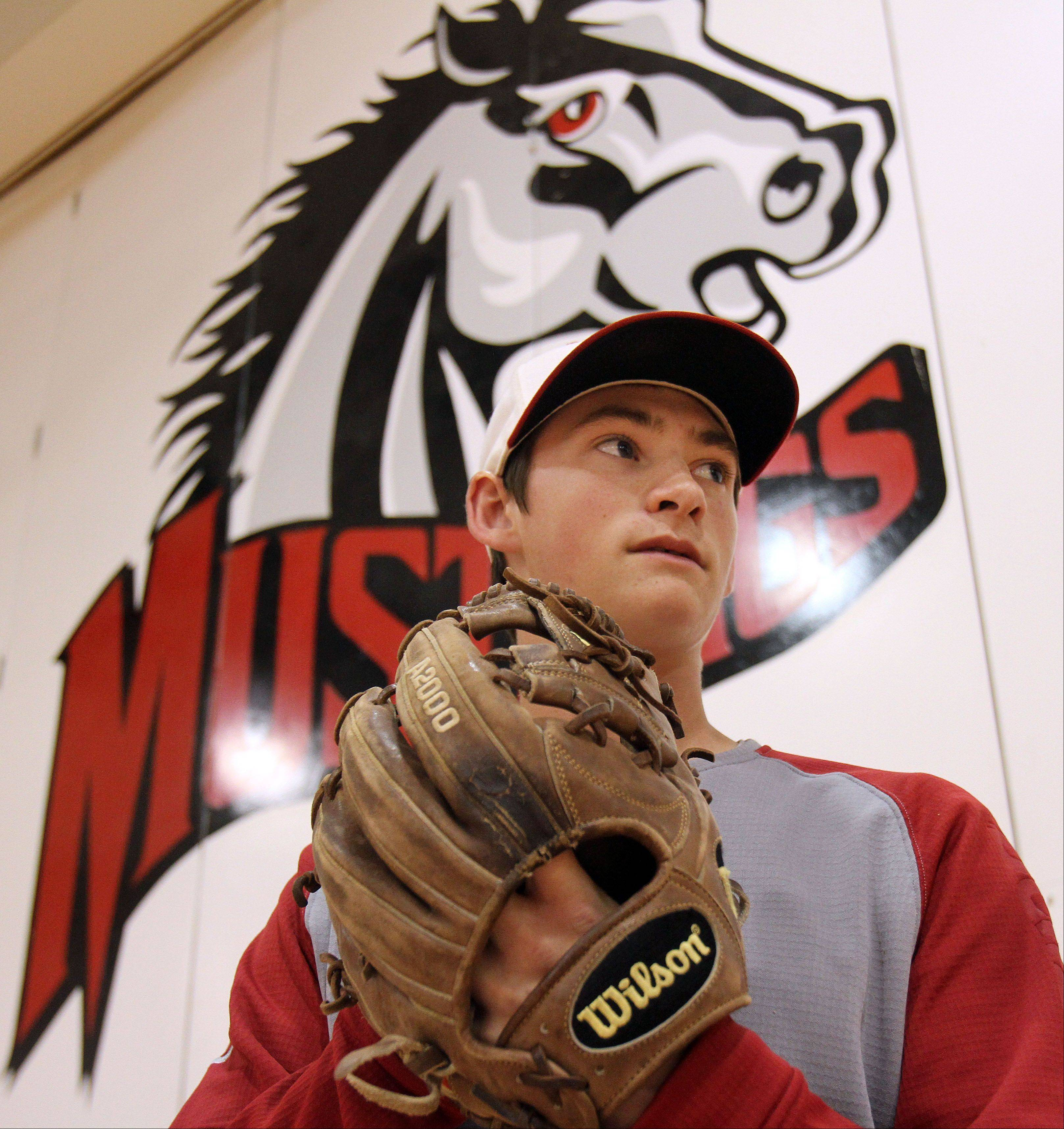 Mundelein pitcher Mitch Schulewitz has had a great start to the year at 5-0, partly due to his becoming a true student of the game — and his opponents.
