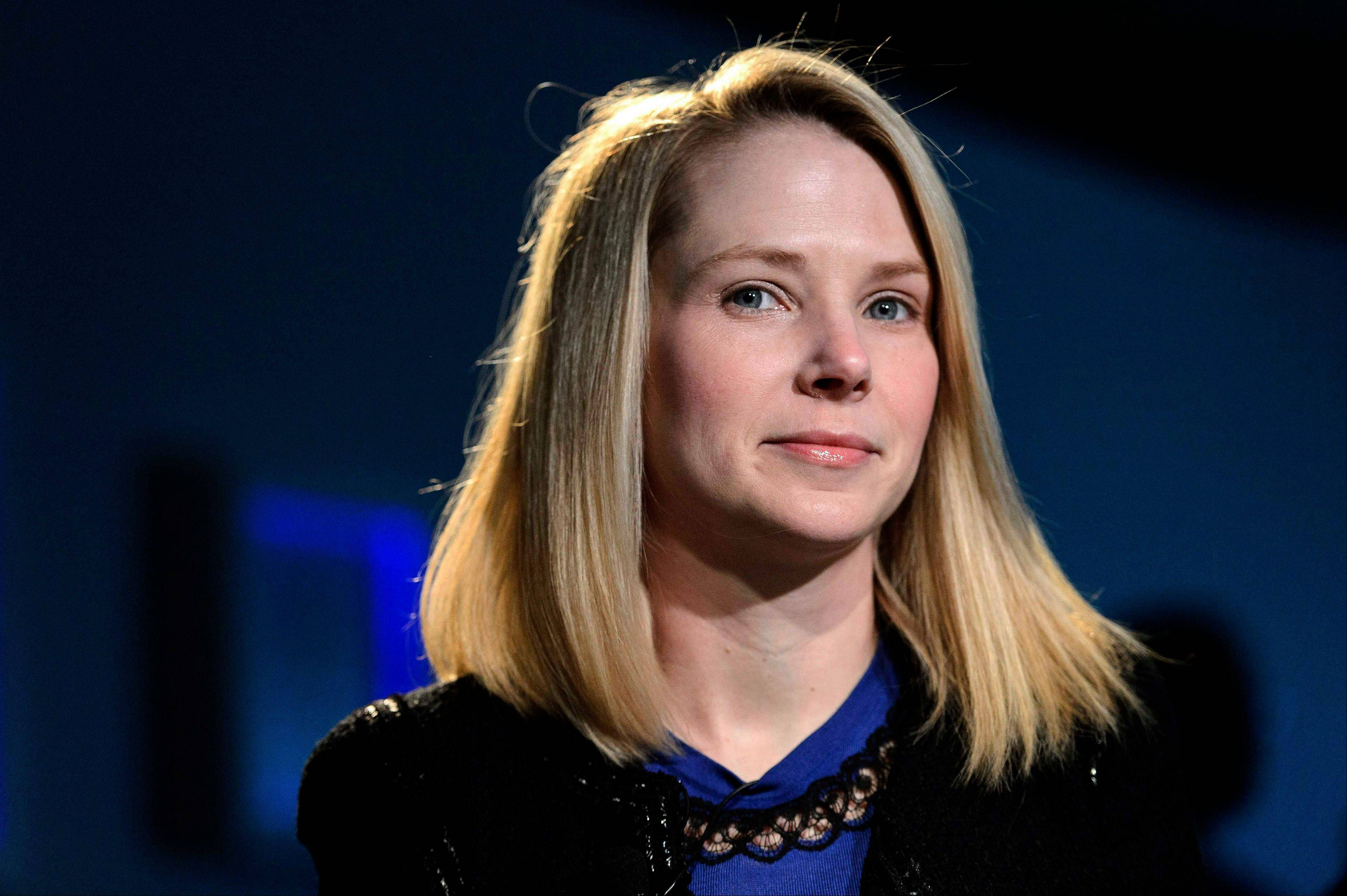 Yahoo's mobile push being orchestrated by CEO Marissa Mayer, seen here, has hatched Yahoo's first email application for the iPad and other tablet computers running on Android software.