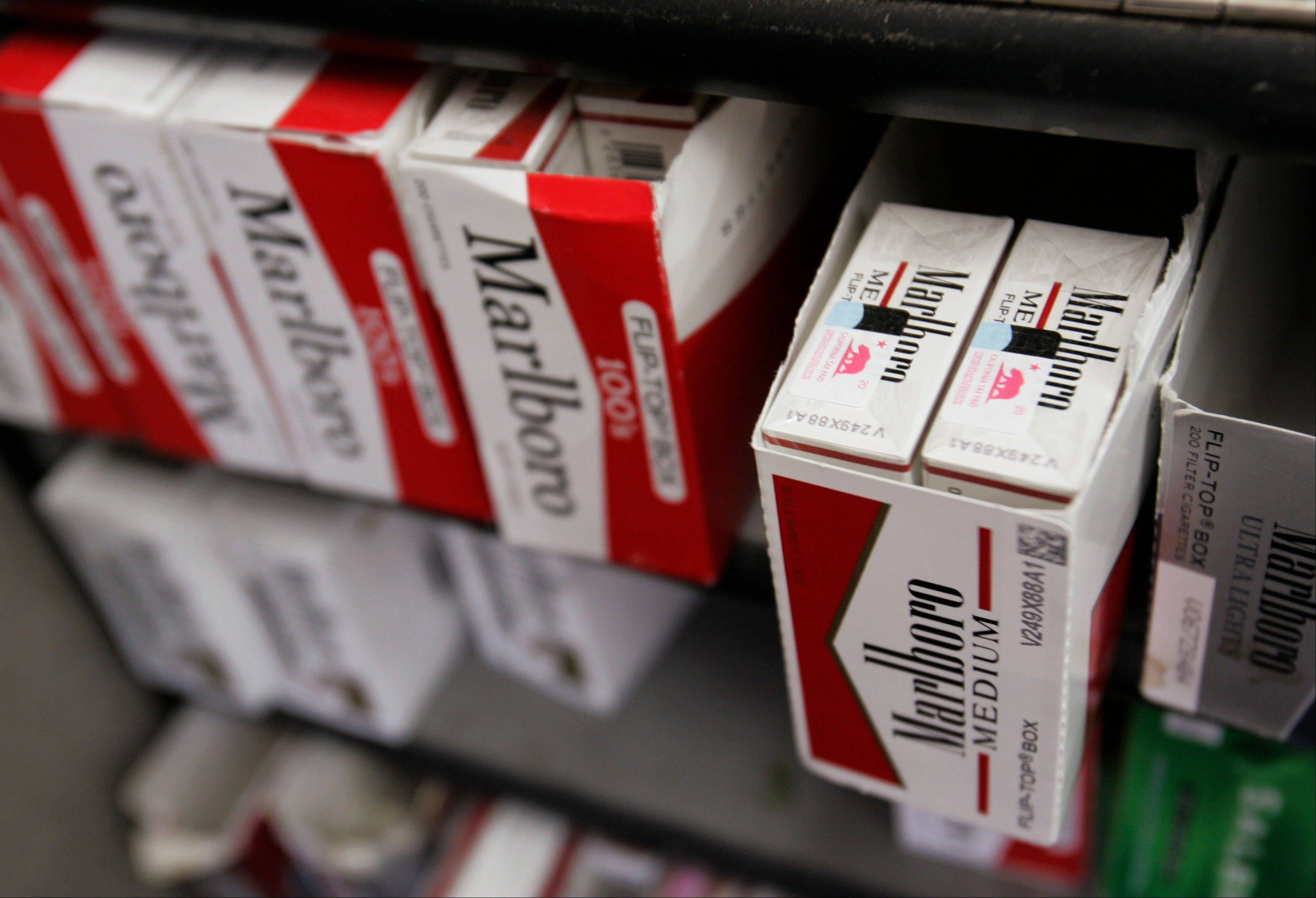 Cigarette maker Philip Morris International Inc. said Thursday that its first-quarter profit fell nearly 2 percent on a decline in the number of cigarettes sold.