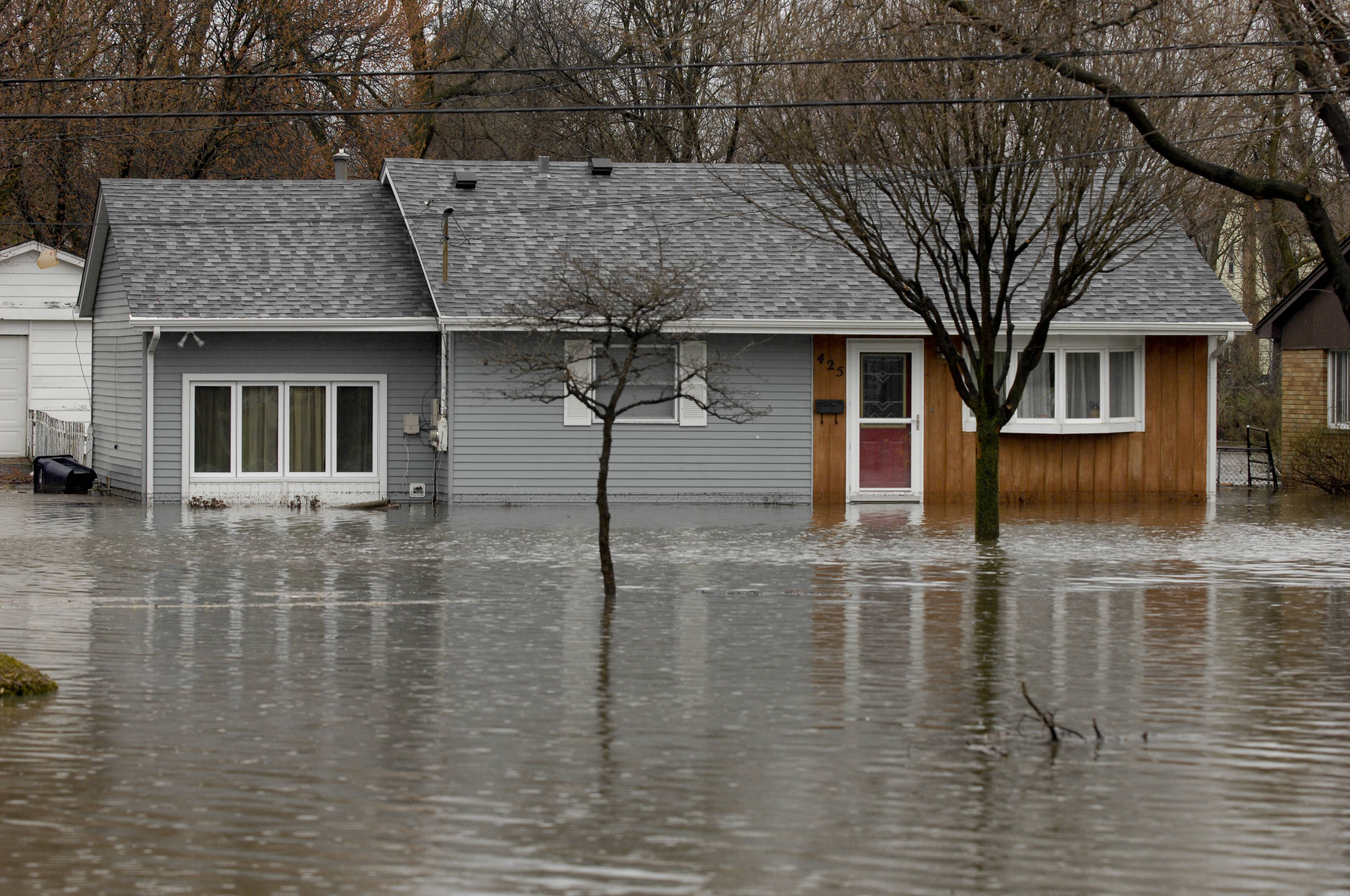The home of Kurt and Debra Langworthy along Finley Road in Lombard flooded onThursday.