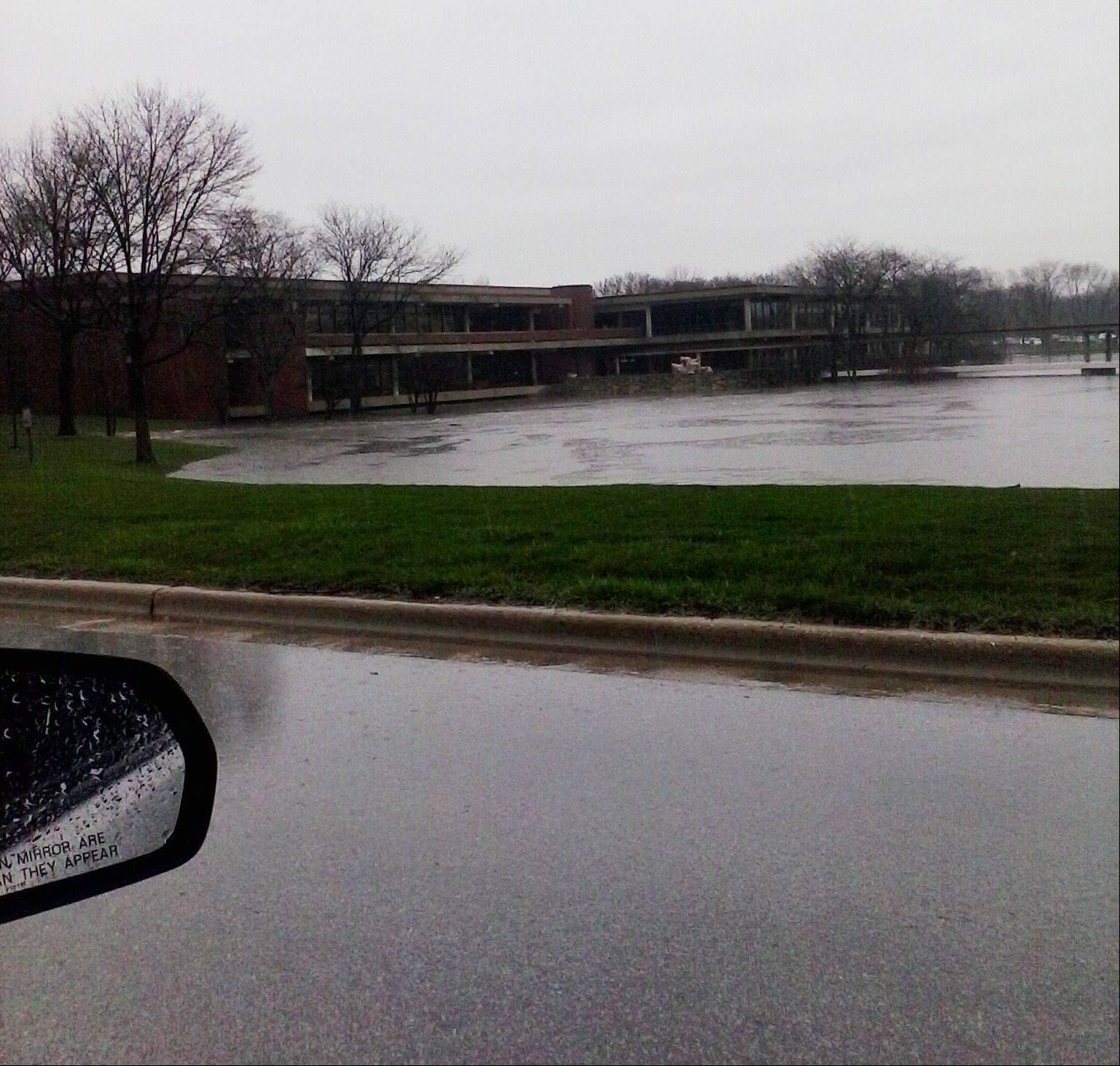submitted photoFlooding near Hamburger University in Oakbrook.