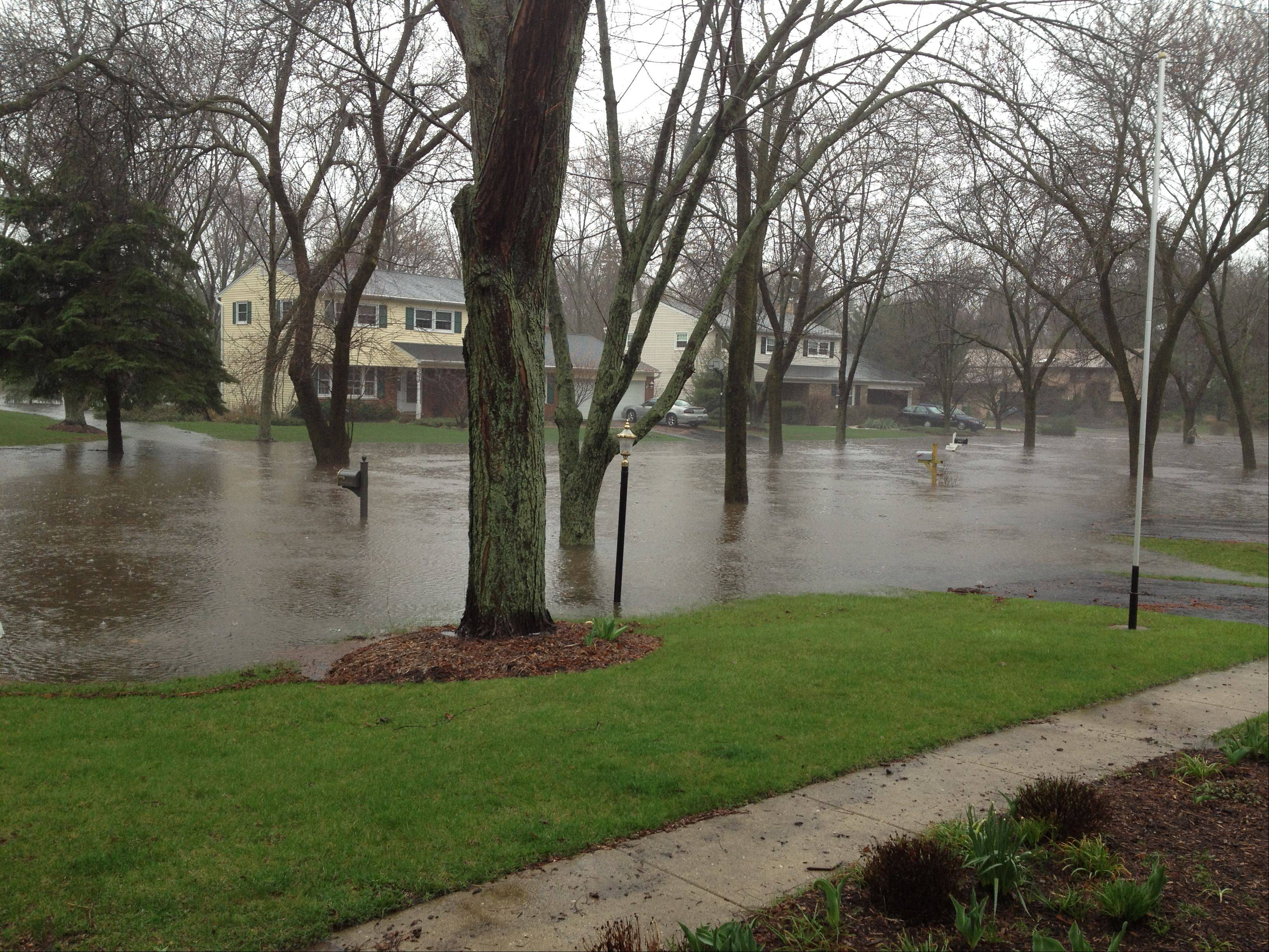 Flooding in Wheaton.