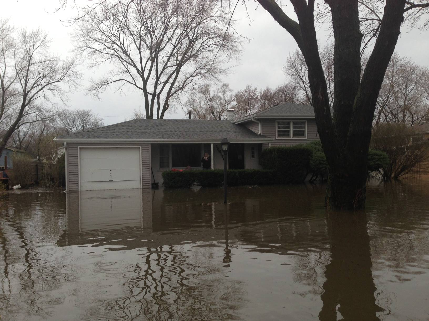 The Valley View subdivision near Glen Ellyn  was partially evacuated Thursday.