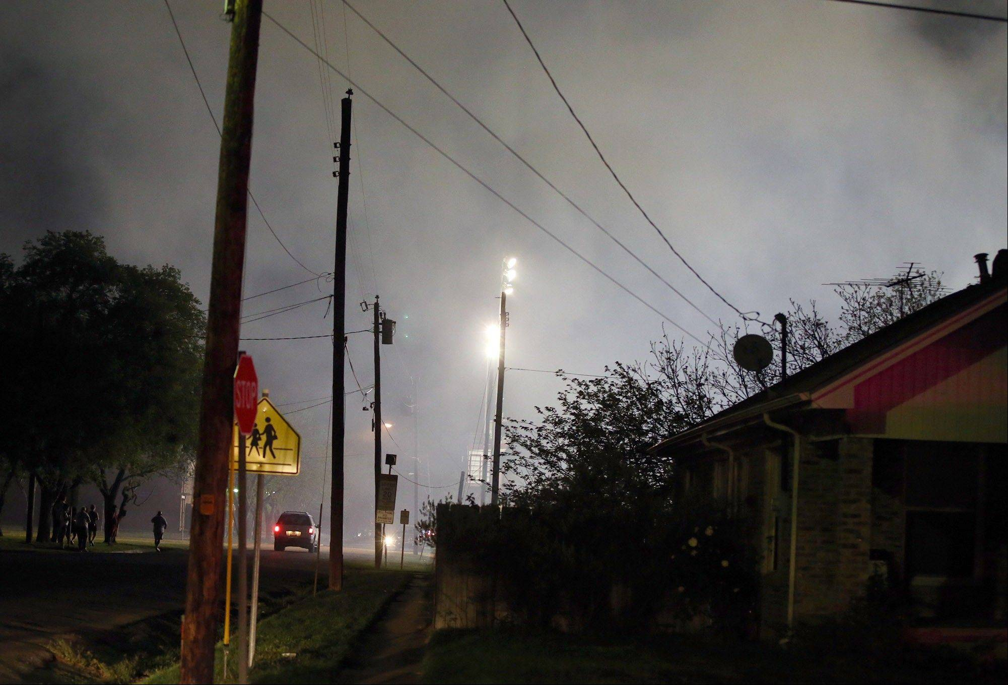 Smoke fills the air after the fertilizer plant explosion Wednesday.