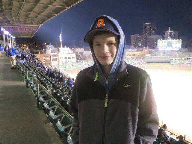 Celebrating his 14th birthday at Wrigley F